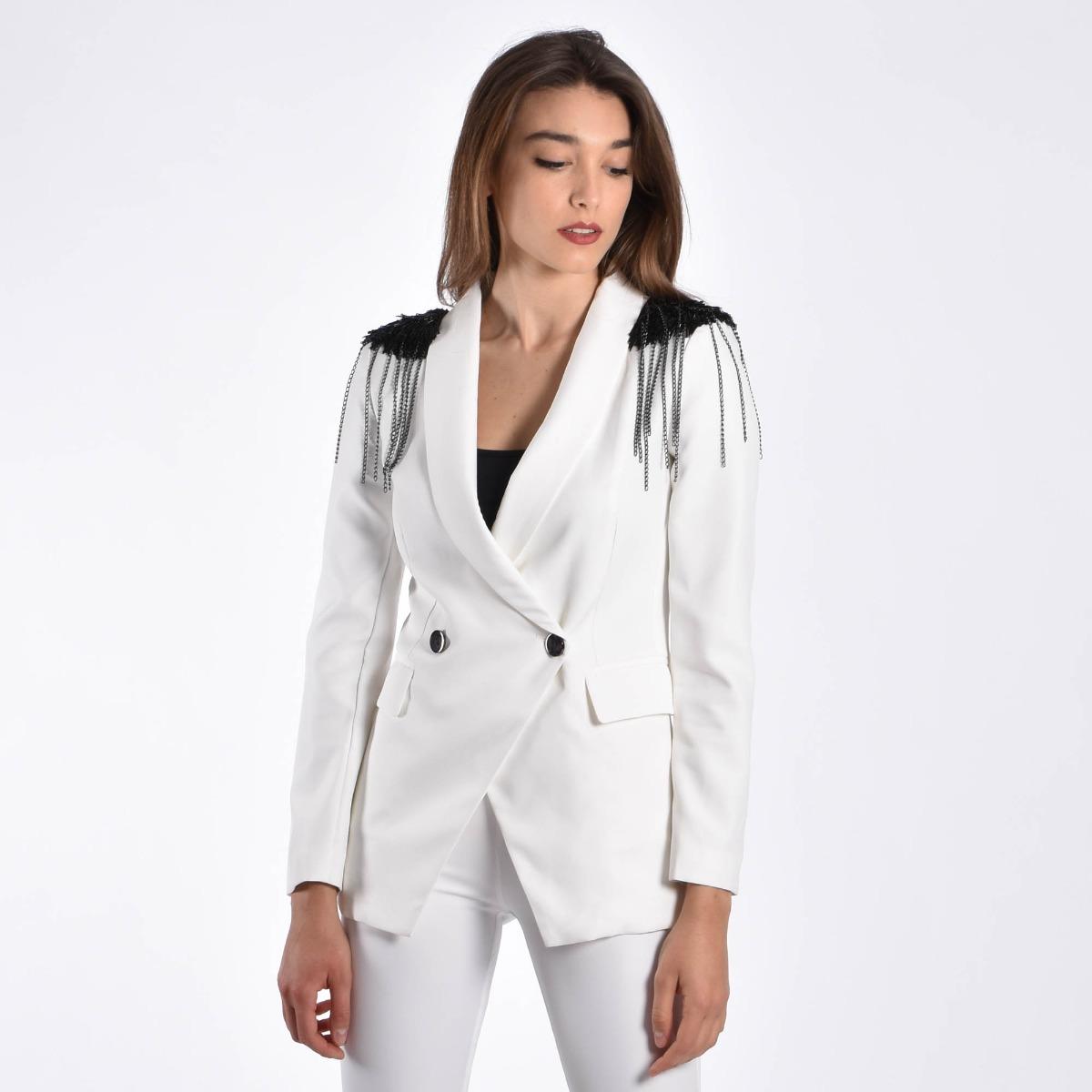 Giacca mostrine- Bianco