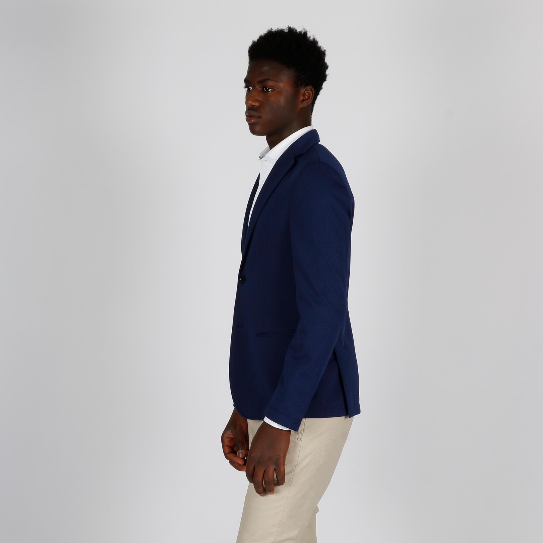 Giacca tim maglia riga - Blu royal