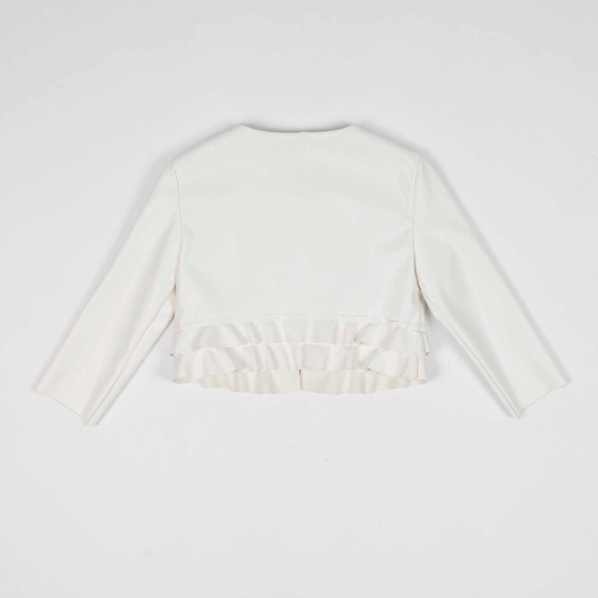 Giubbino con rouches- Bianco
