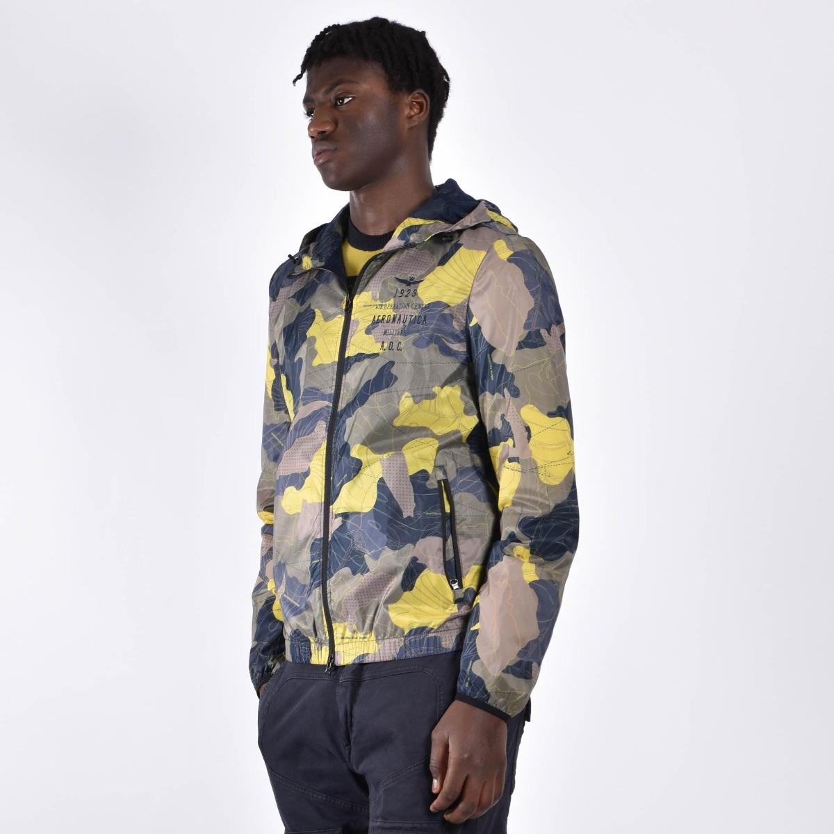 Giubbino k-way camouflage - Verde/giallo