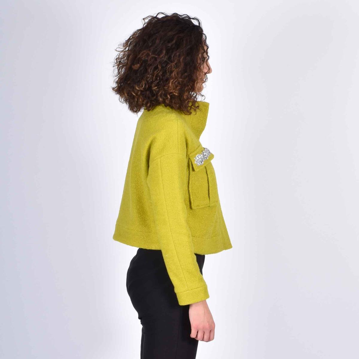 Giubbino tasche gioiello- Lime