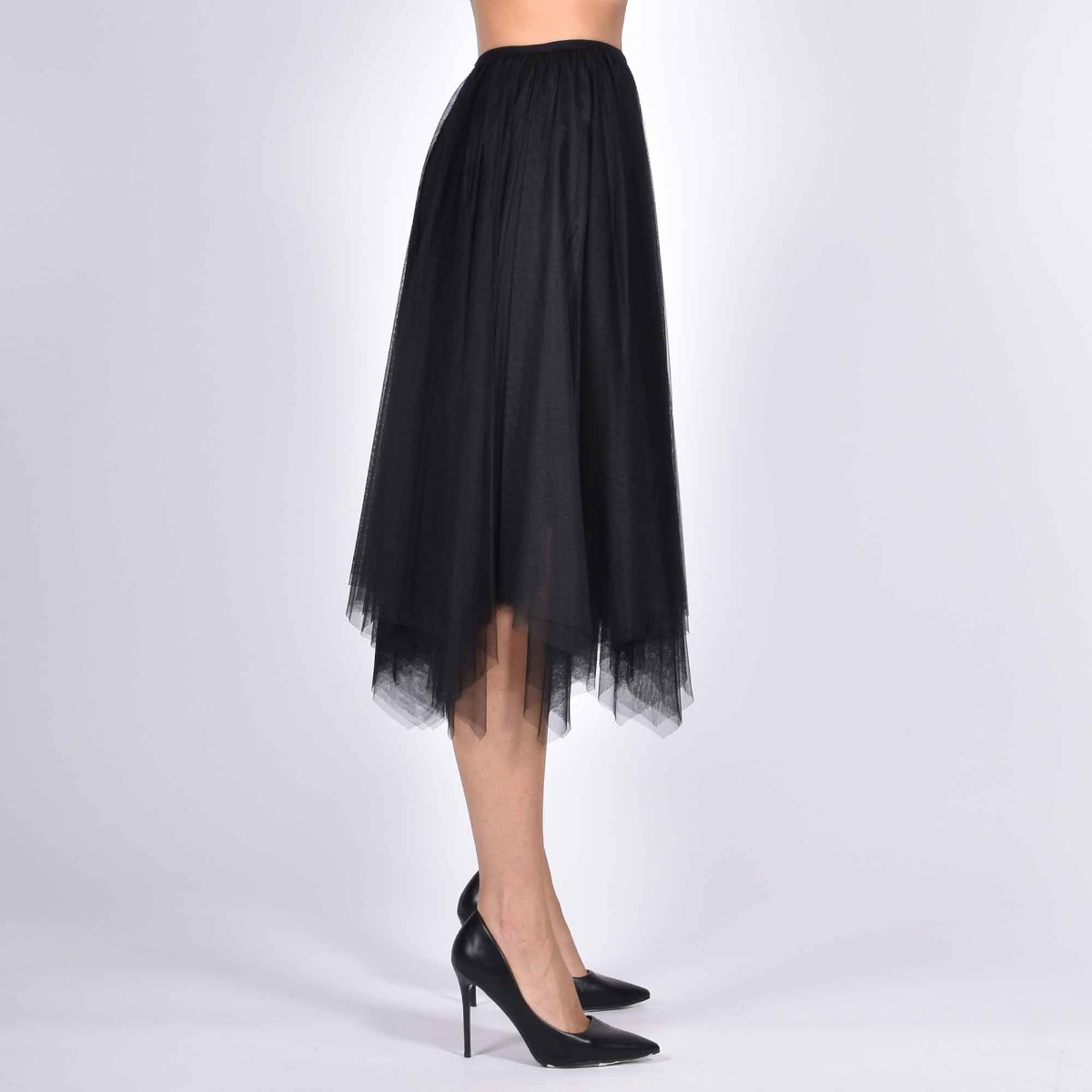 Gonna tulle a punte - Nero