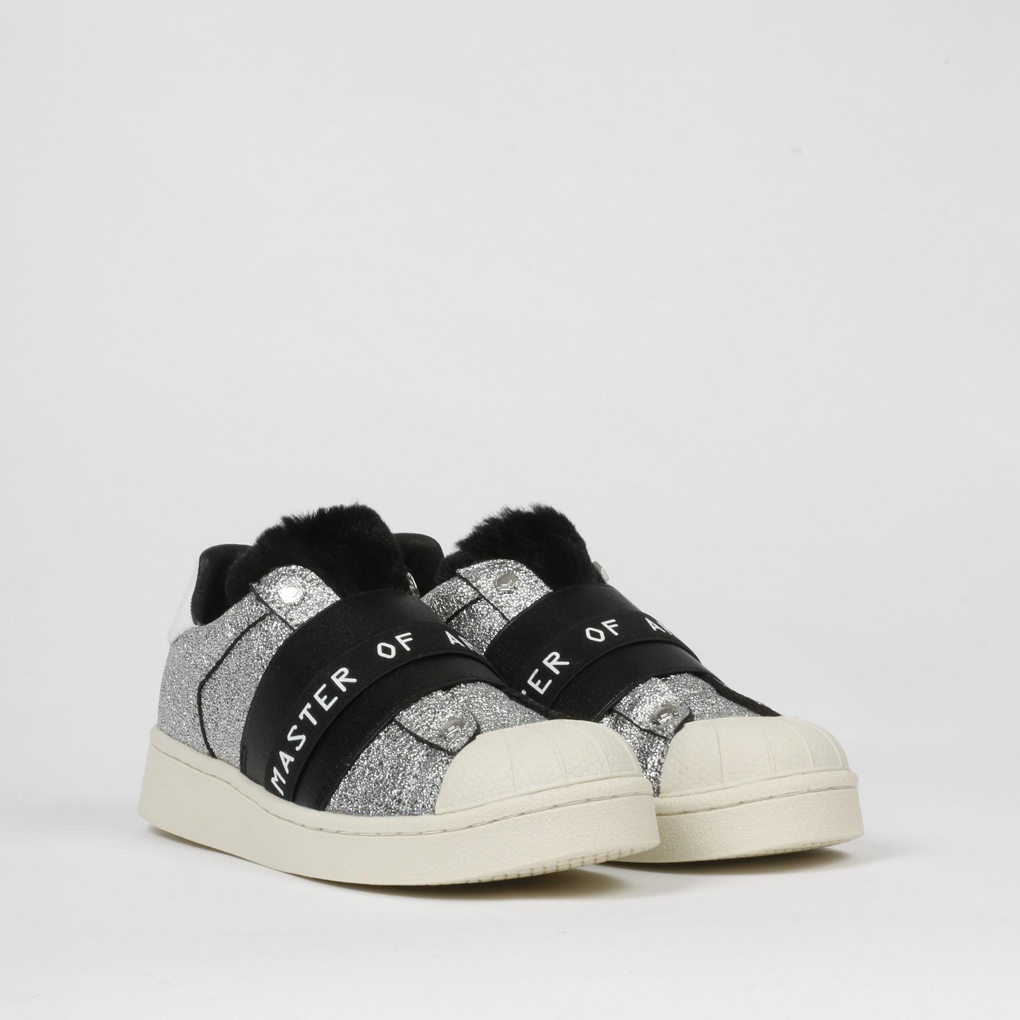 Sneakers moa glitter - Nero/silver