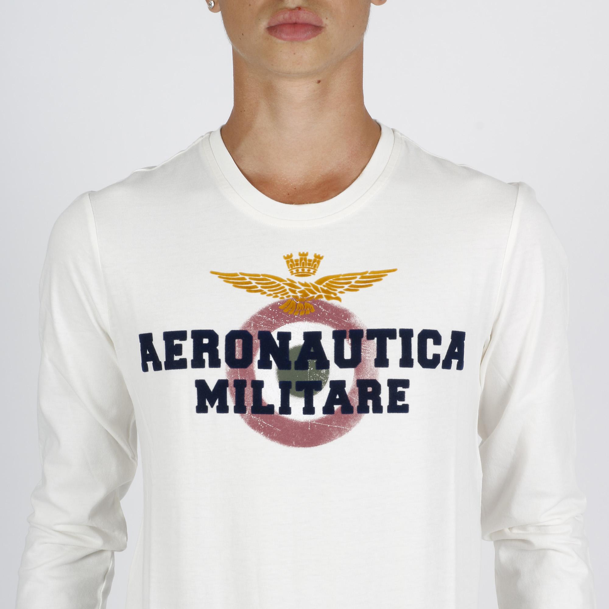 T-shirt velour logo - Bianco