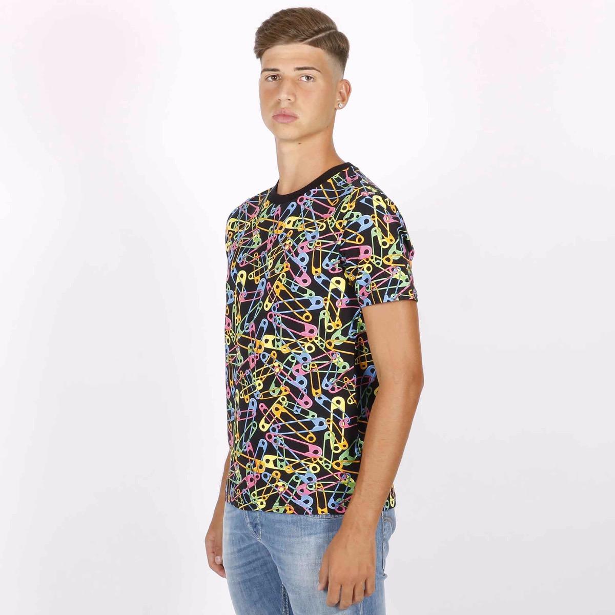 T-shirt spille multicolor - Nero