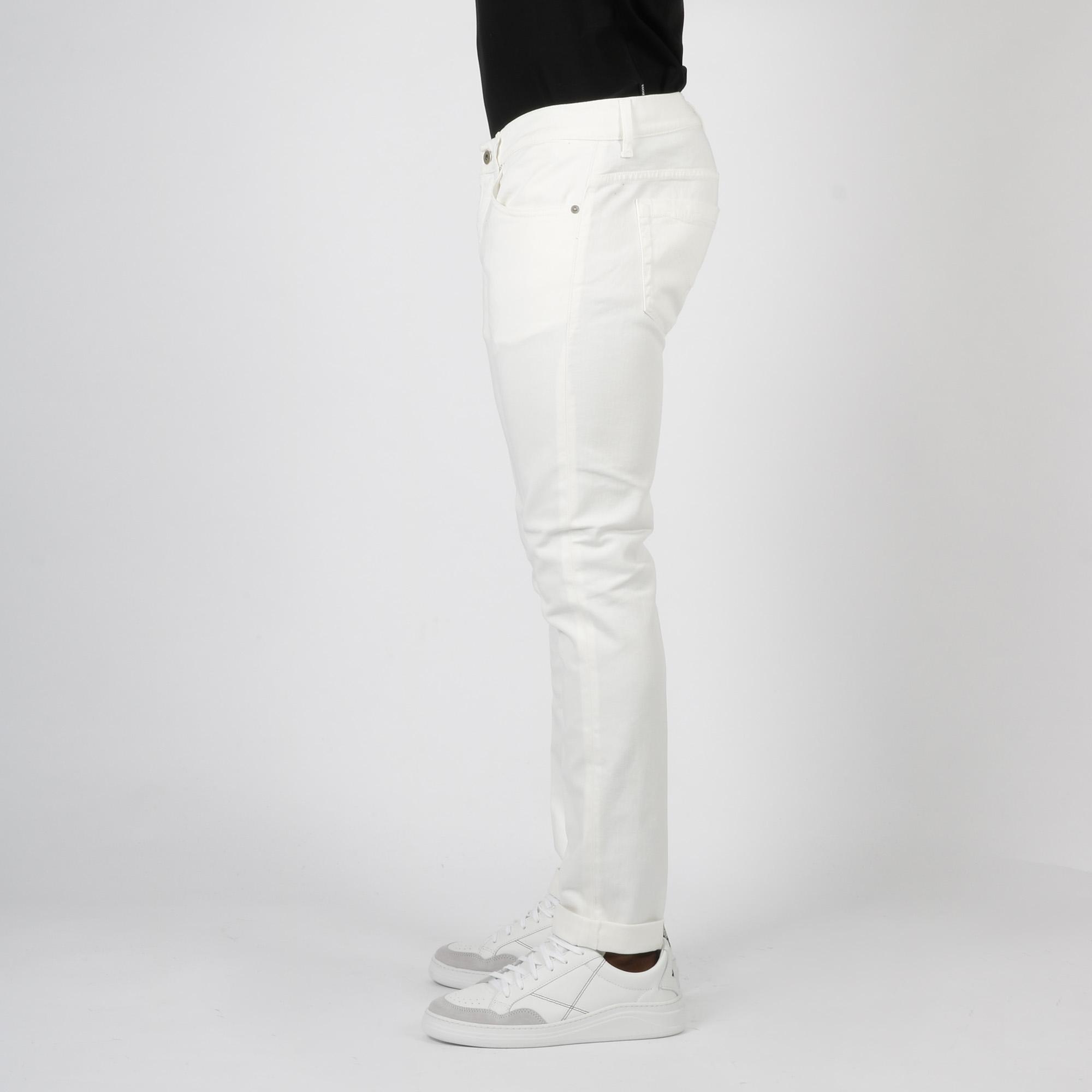 Pantalone george skinny - Bianco