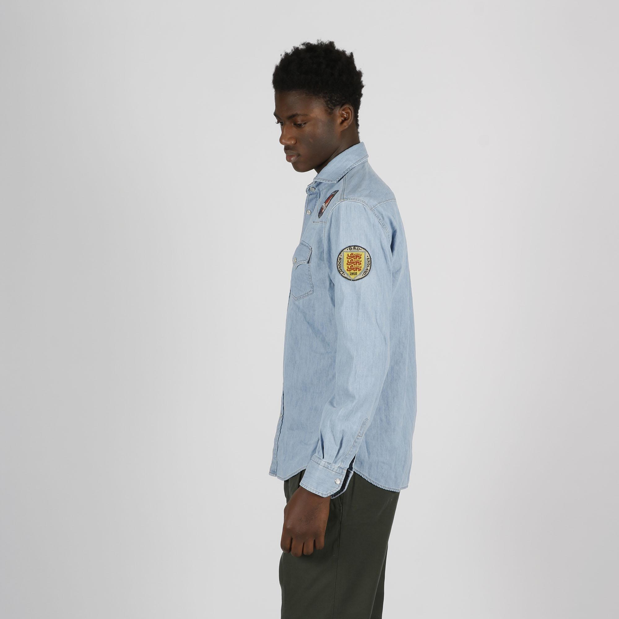 Camicia toppe logo - Denim