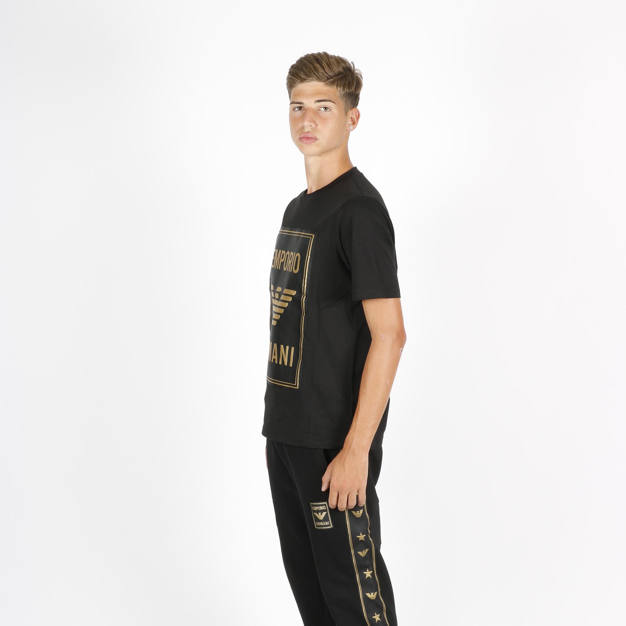 T-shirt logo in raso - Nero