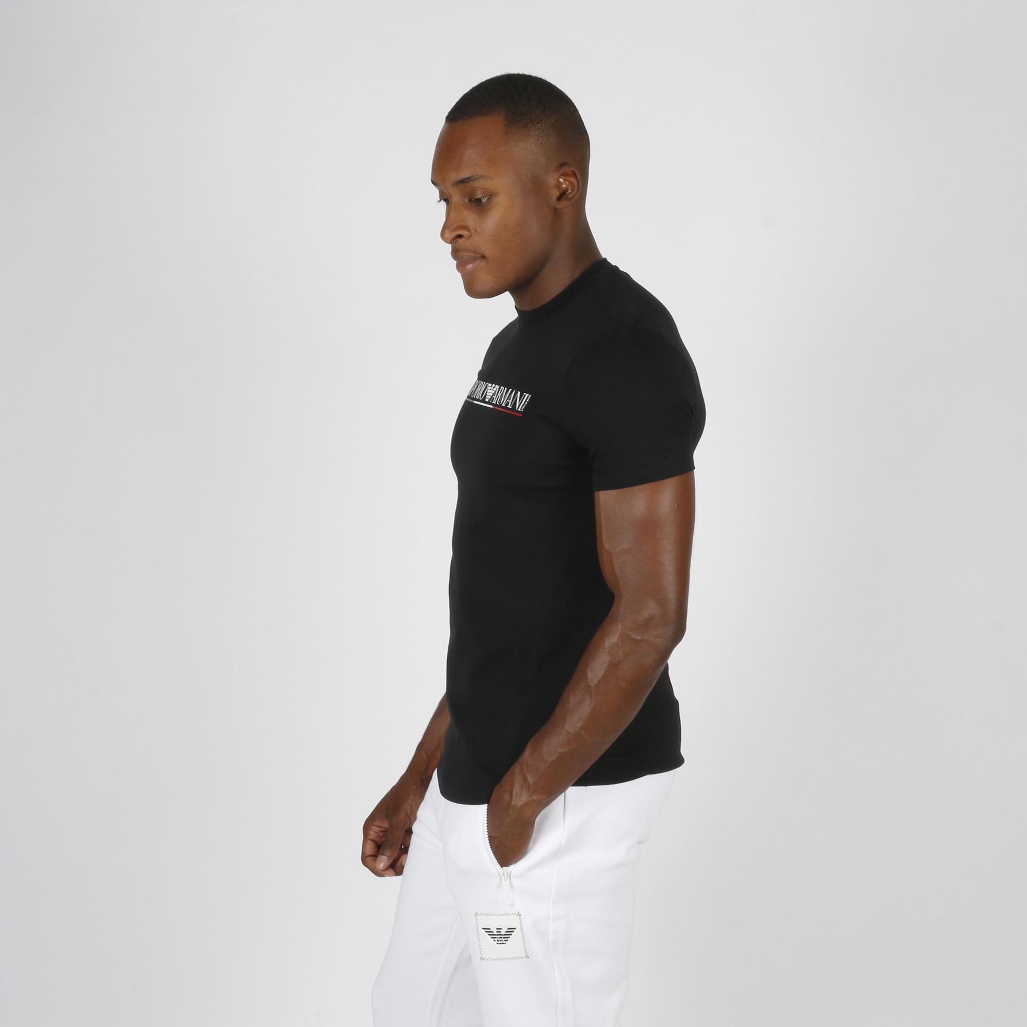 T-shirt logo tricolore - Nero