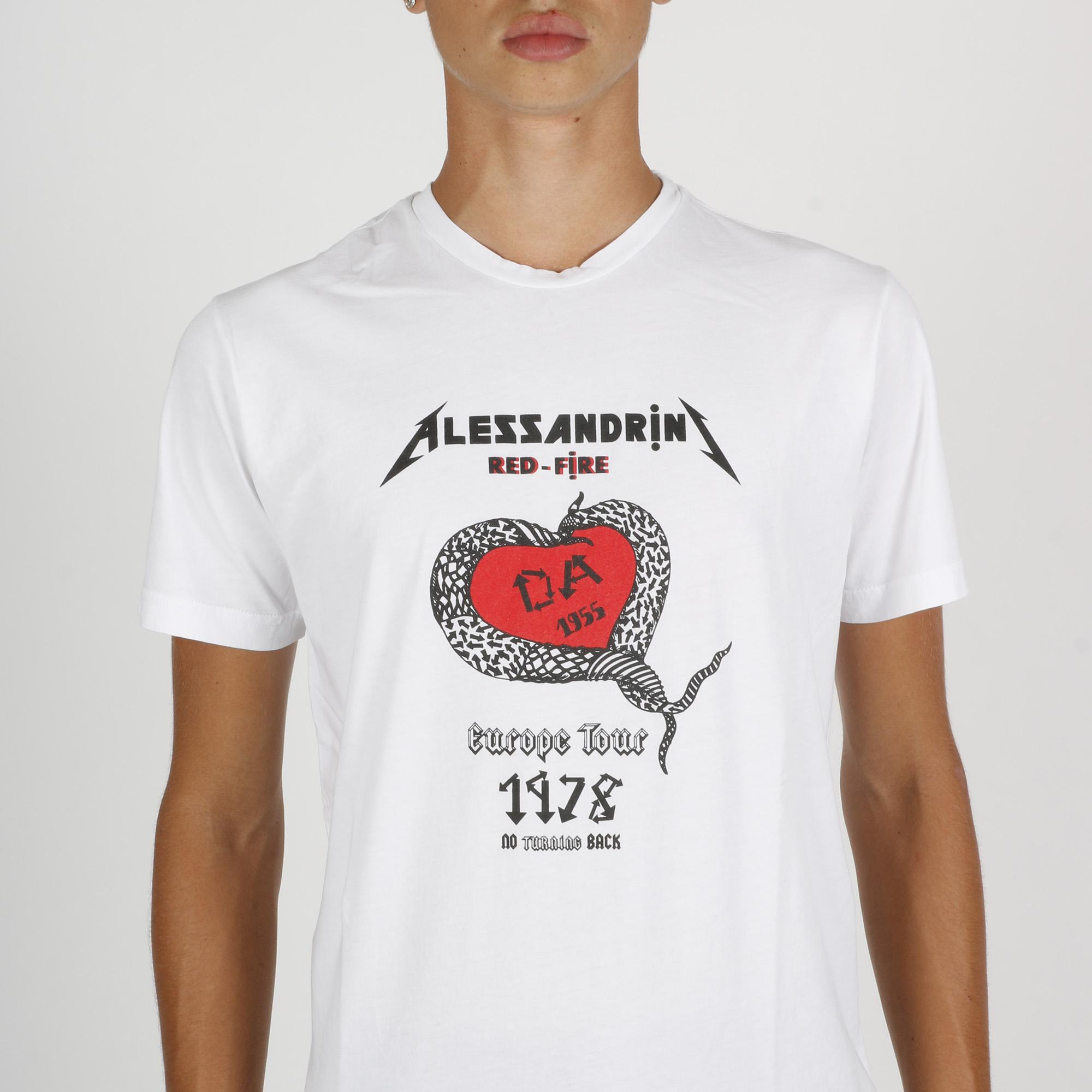 T-shirt europe tour - Bianco