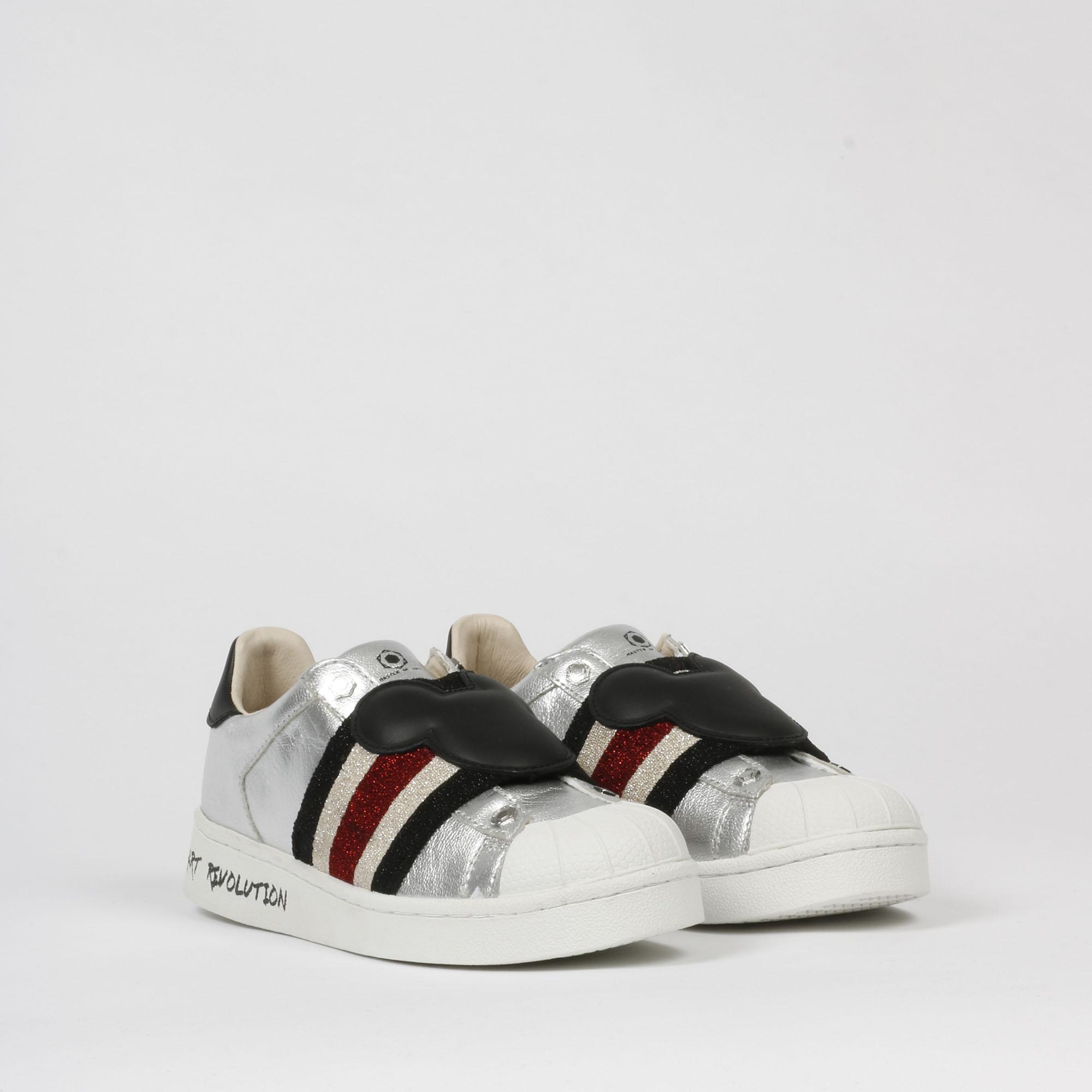 Sneakers mickey fascia - Argento
