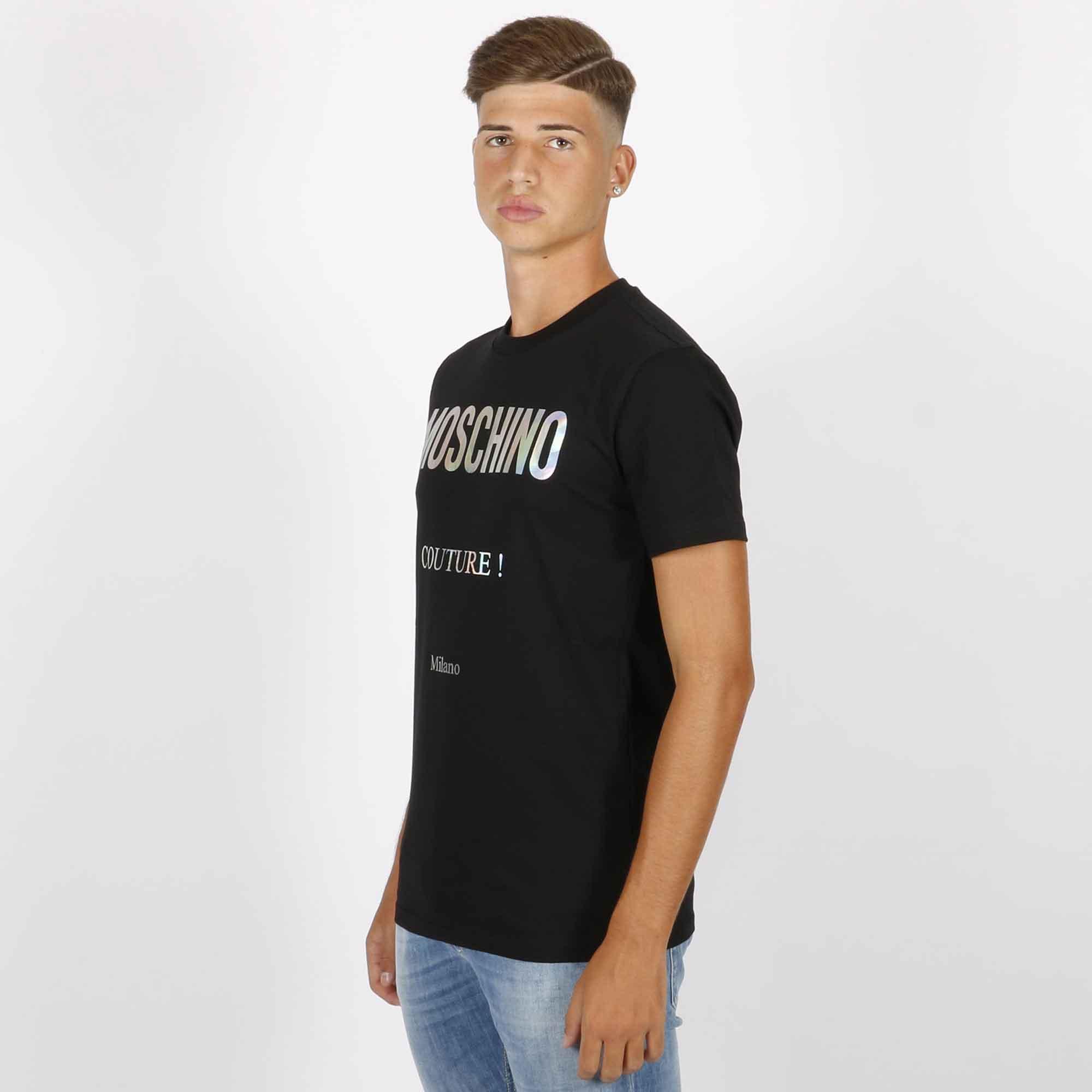T-shirt logo riflettente - Nero