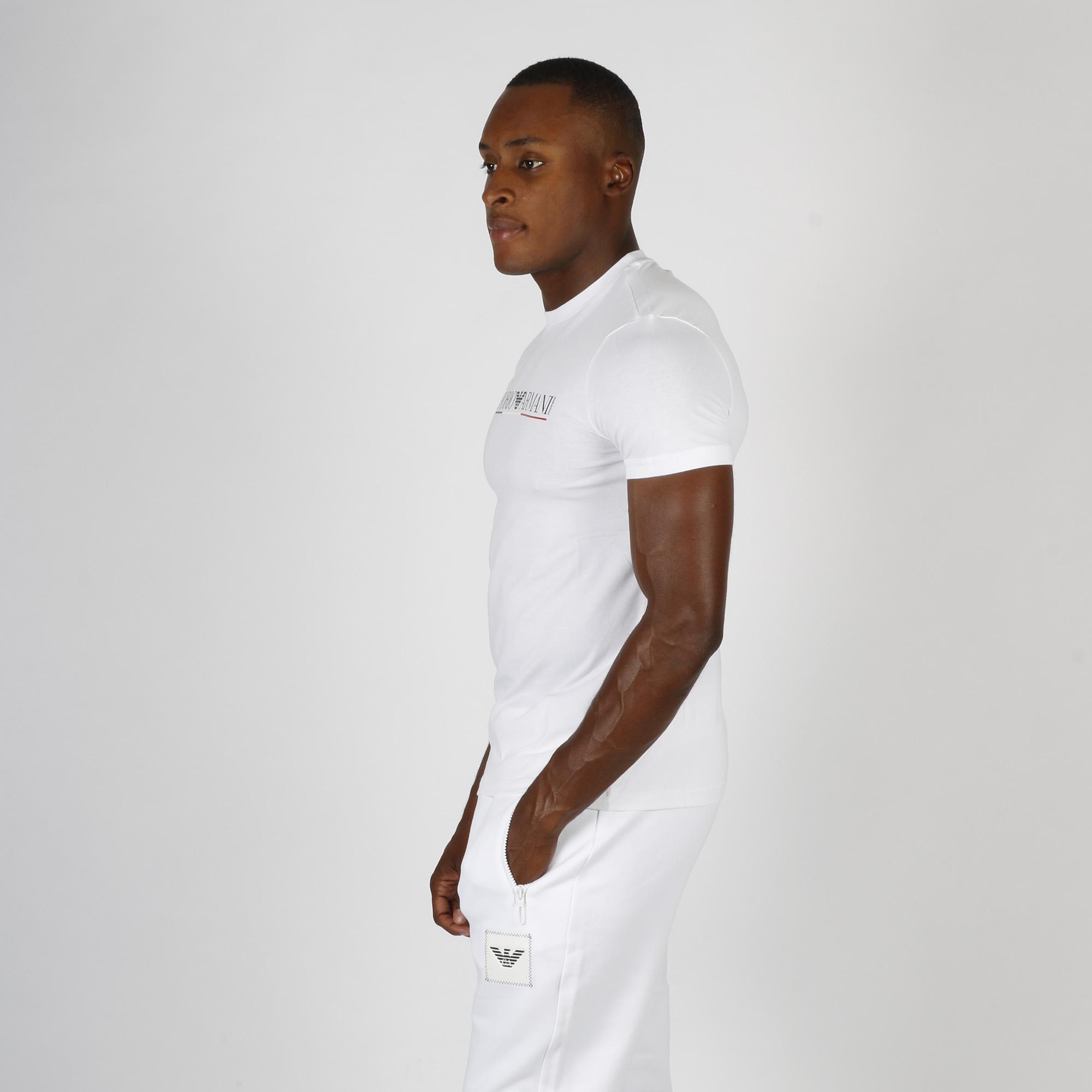 T-shirt logo tricolore - Bianco