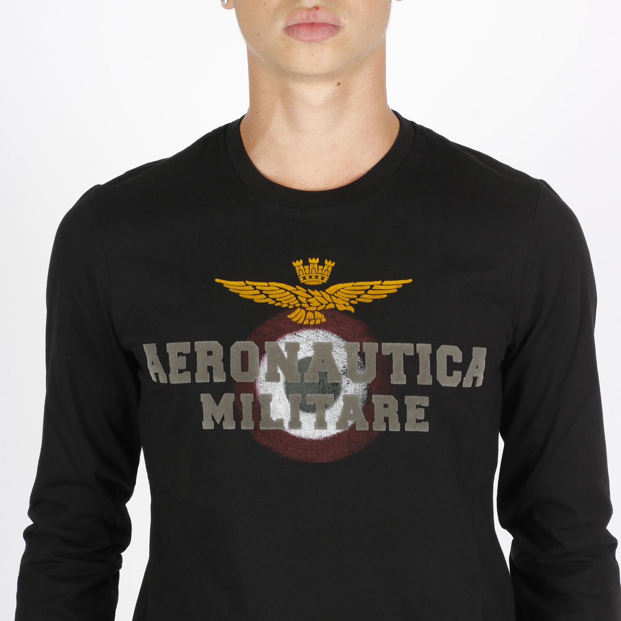 T-shirt velour logo - Nero