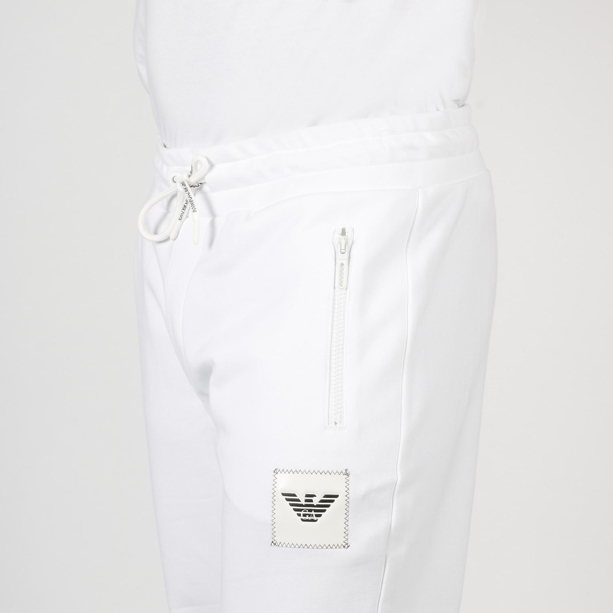 Pantalone ricamo logo - Bianco