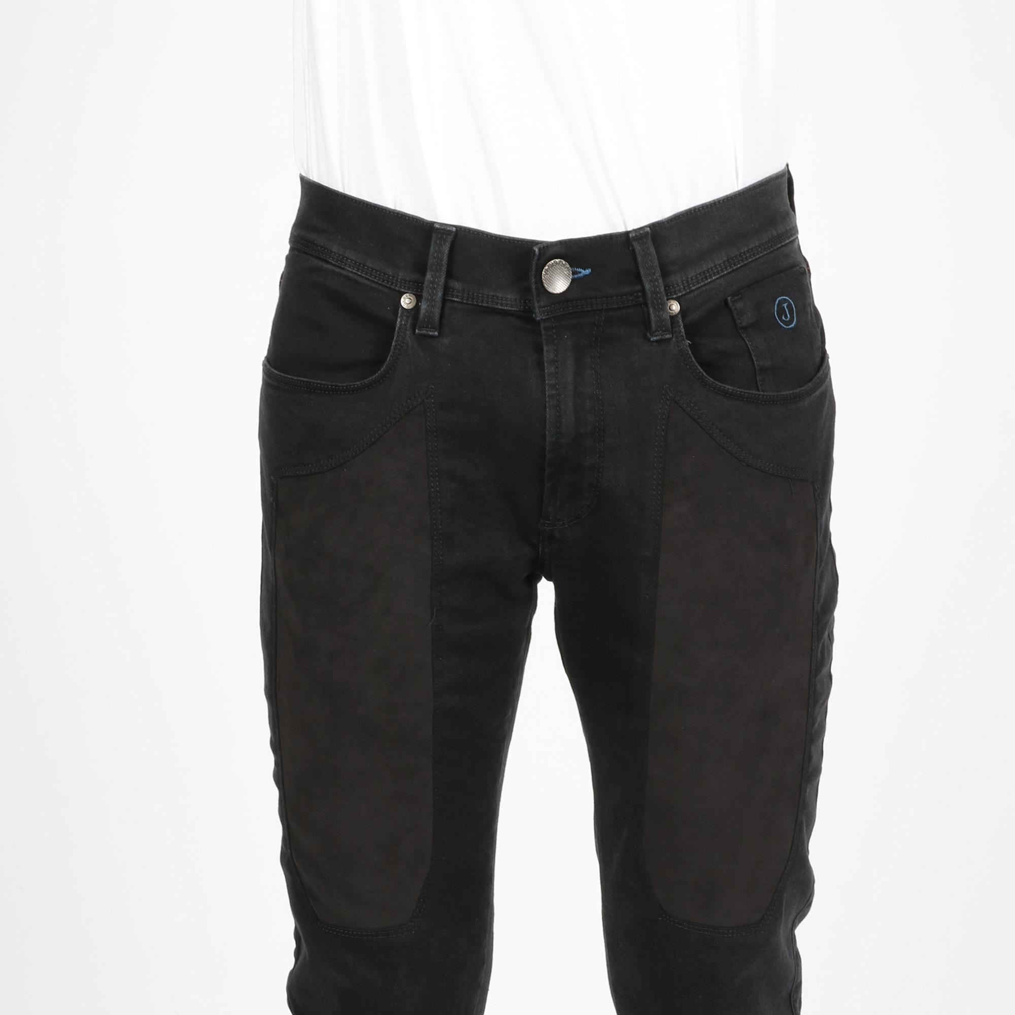 Jeans toppa nera - Denim nero