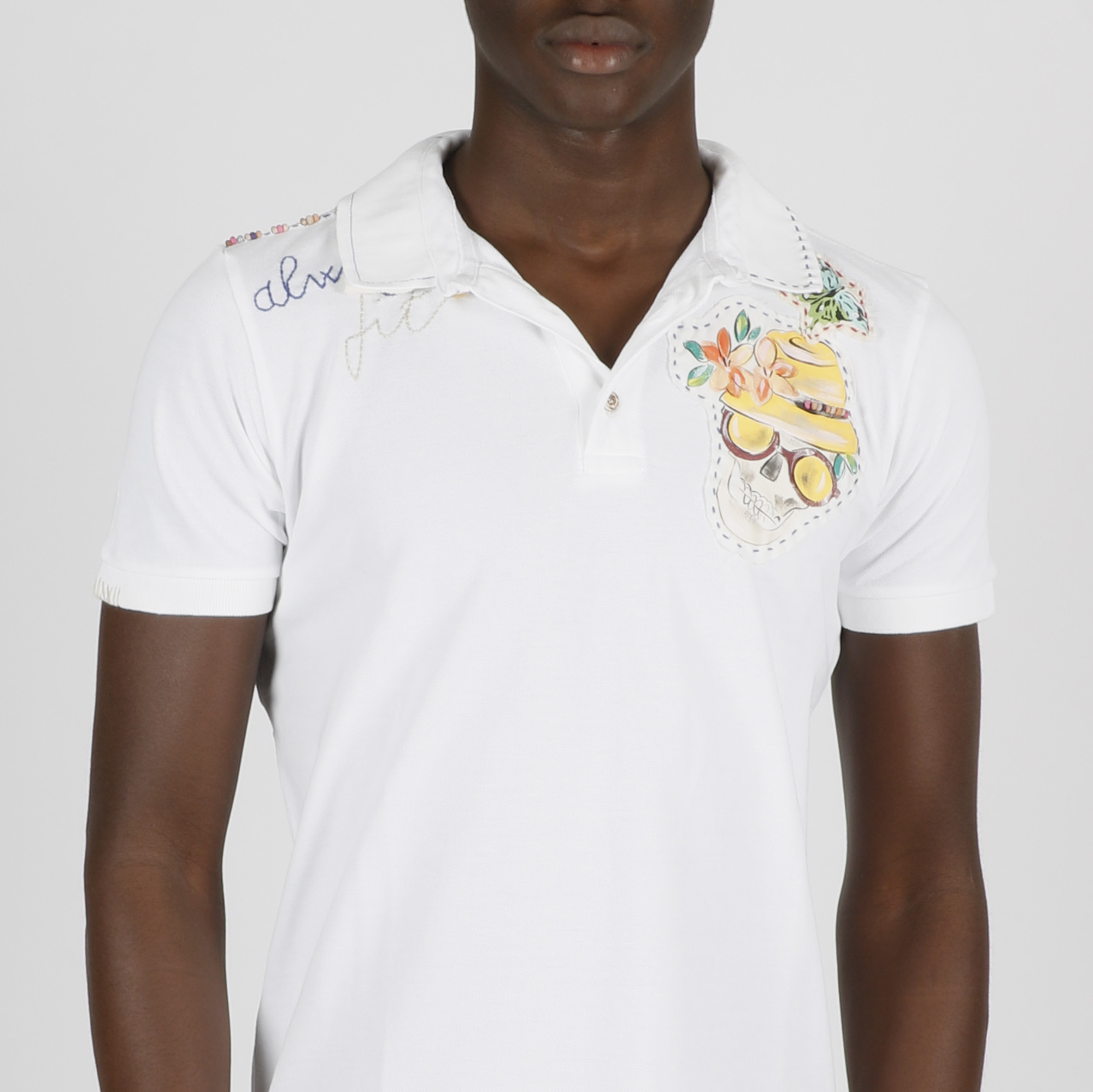 T-shirt teschio - Bianco