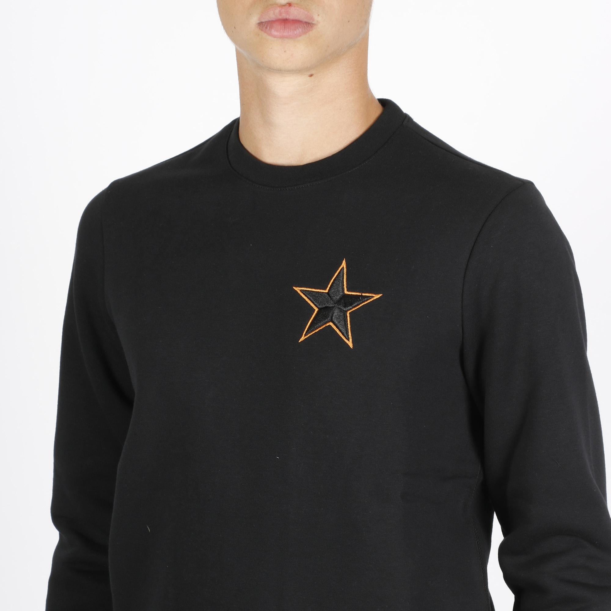 Felpa girocollo stella - Nero