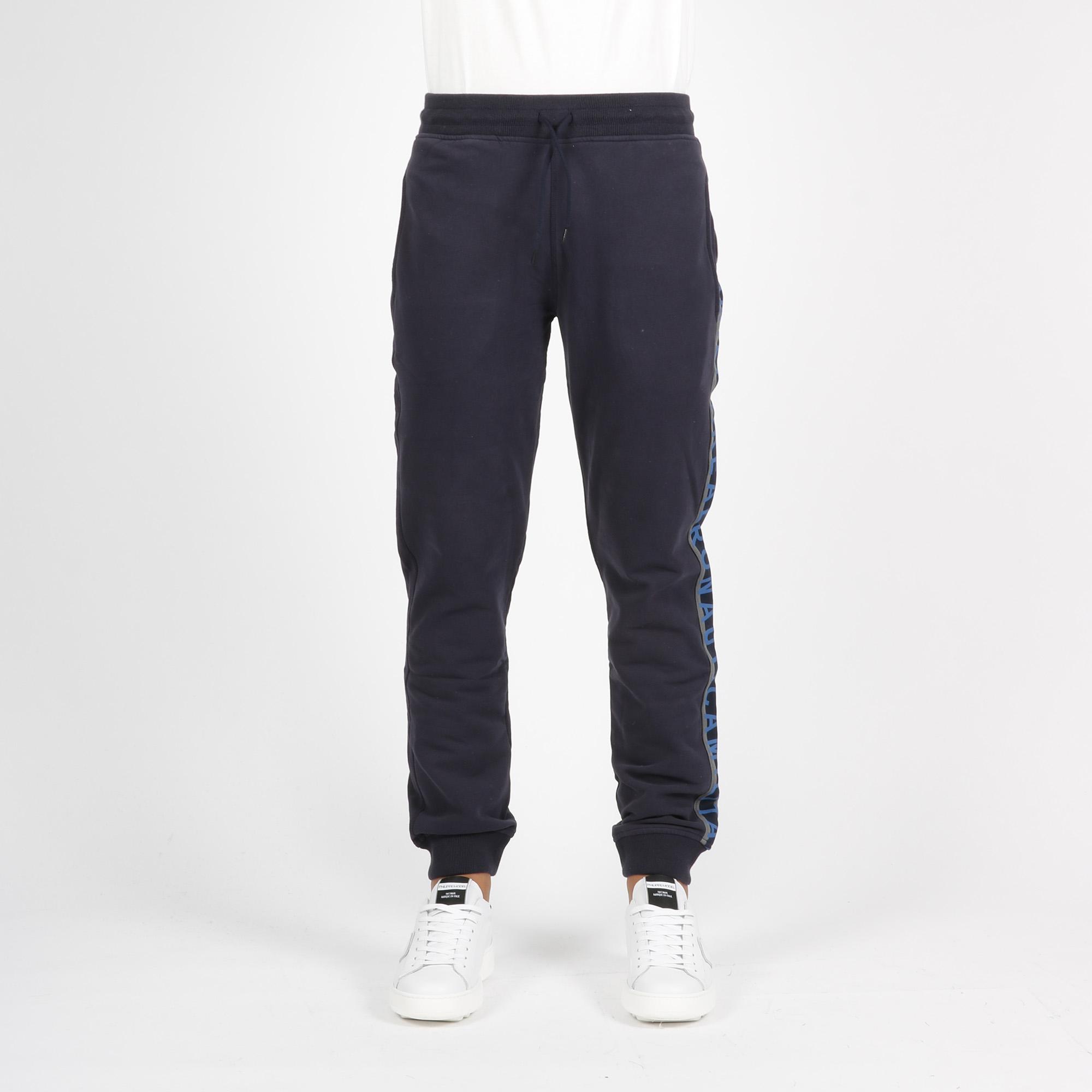 Pantalone tuta banda logo - Blu navy