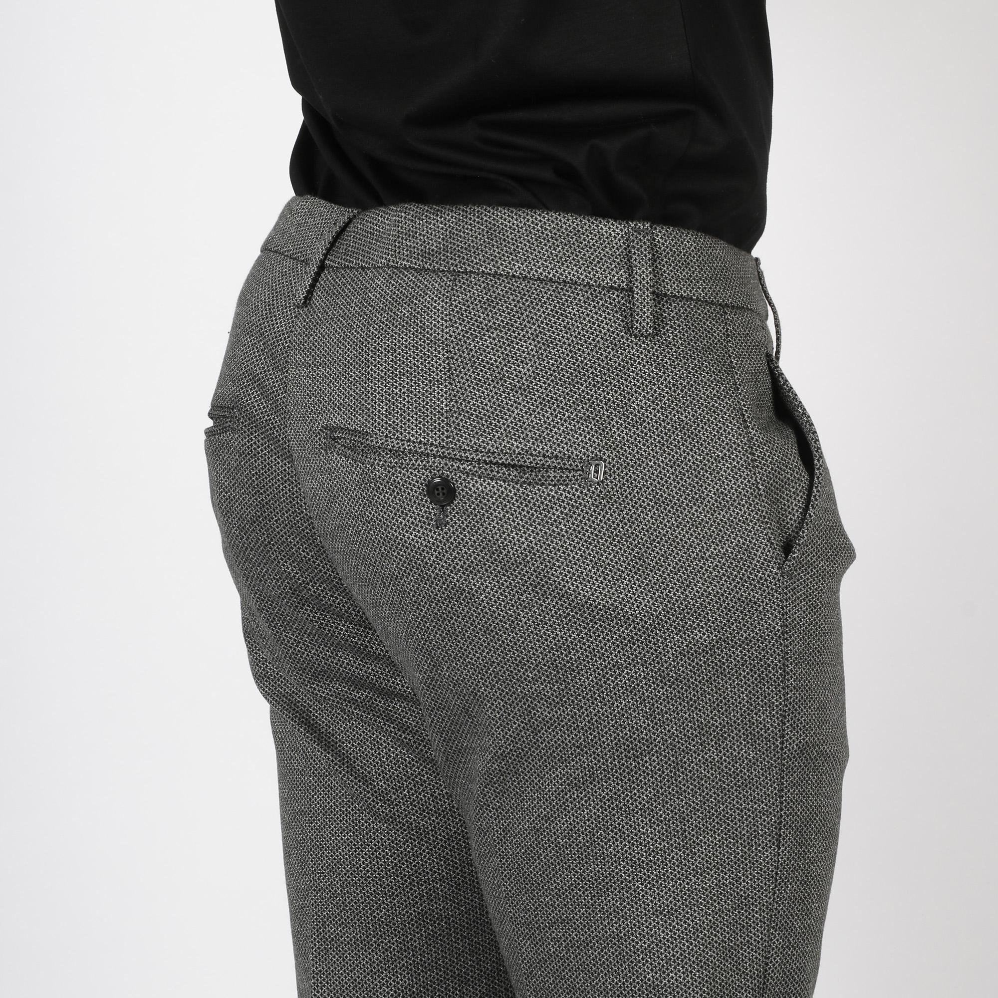 Pantalone gaubert micropunti - Grigio/nero