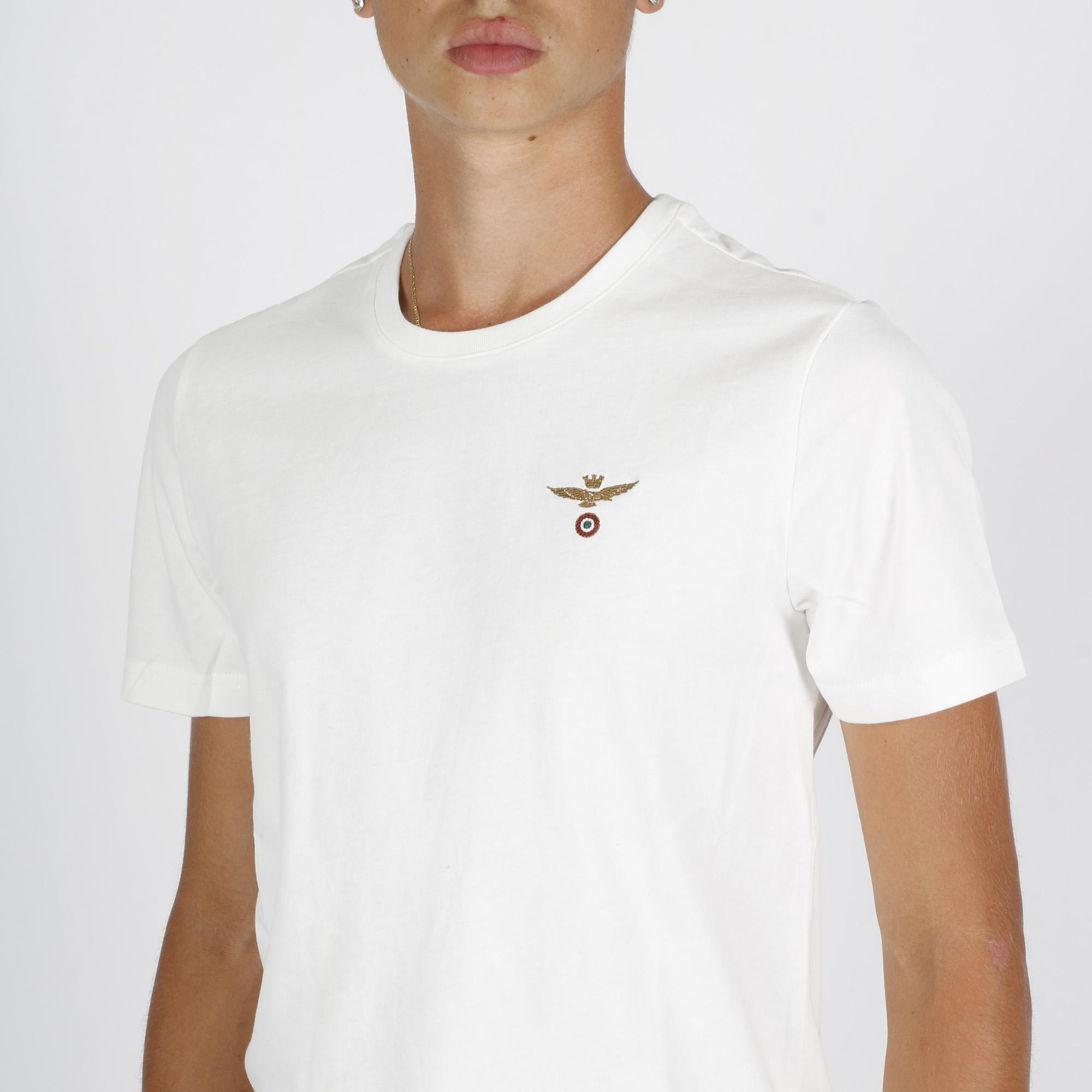 T-shirt logo am - Bianco