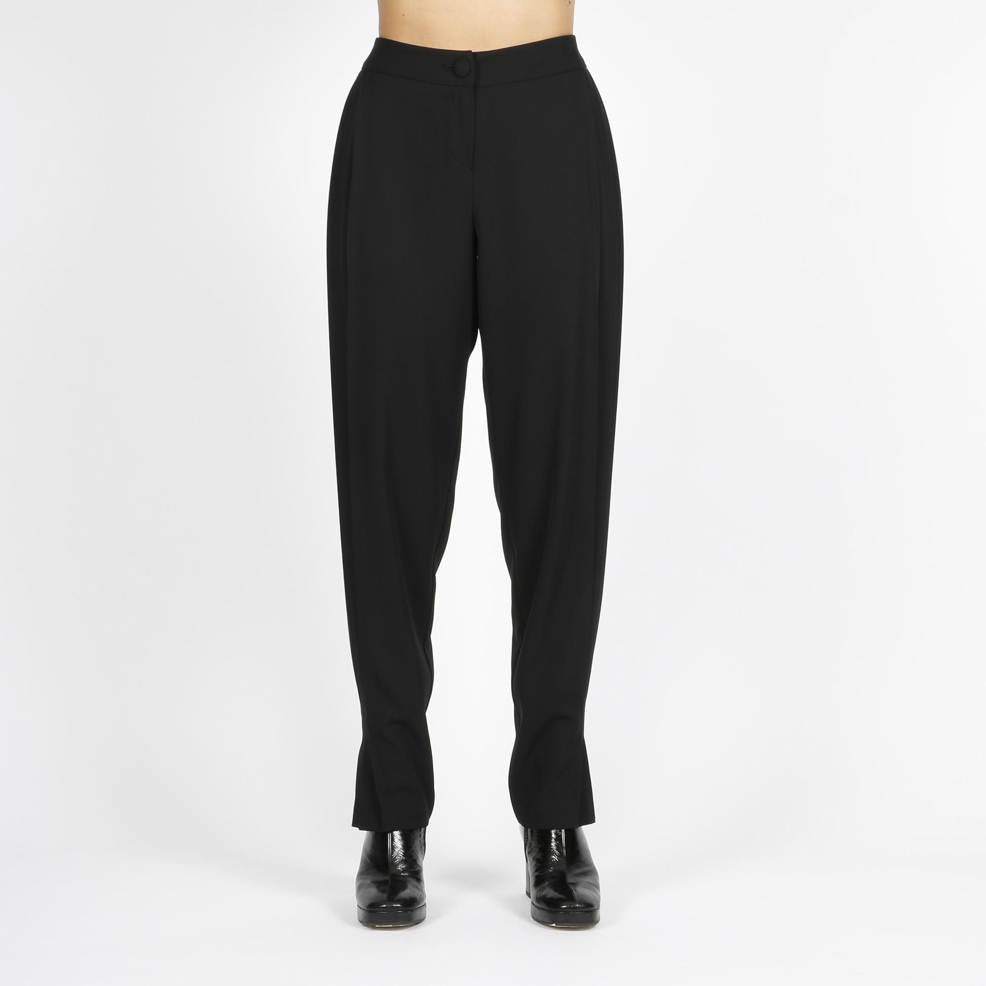 Pantalone dettaglio plissè - Nero