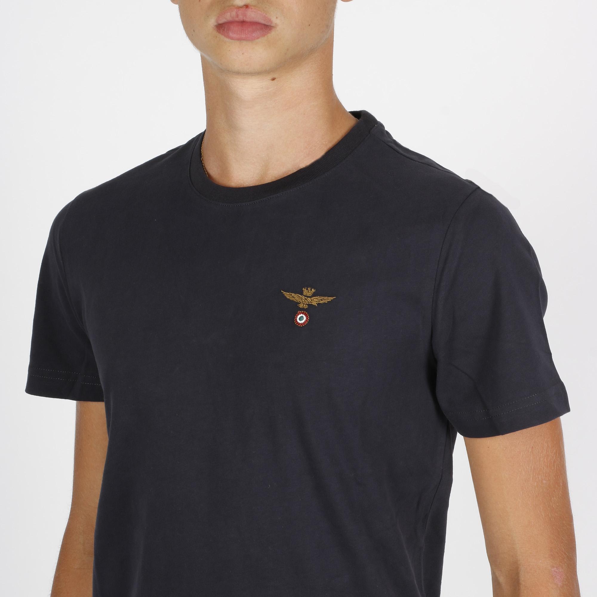 T-shirt logo am - Blu navy