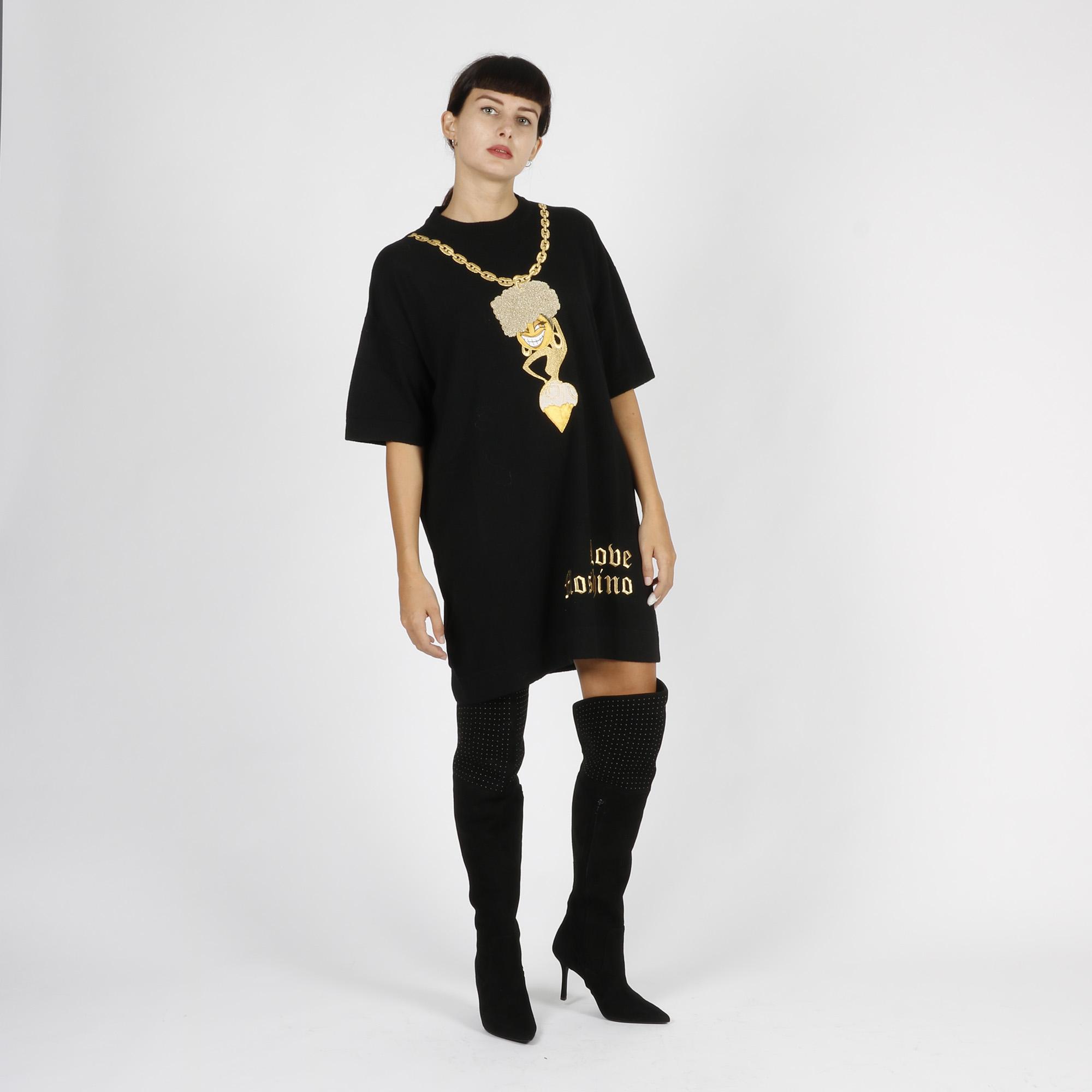Abito ricamo donna - Nero