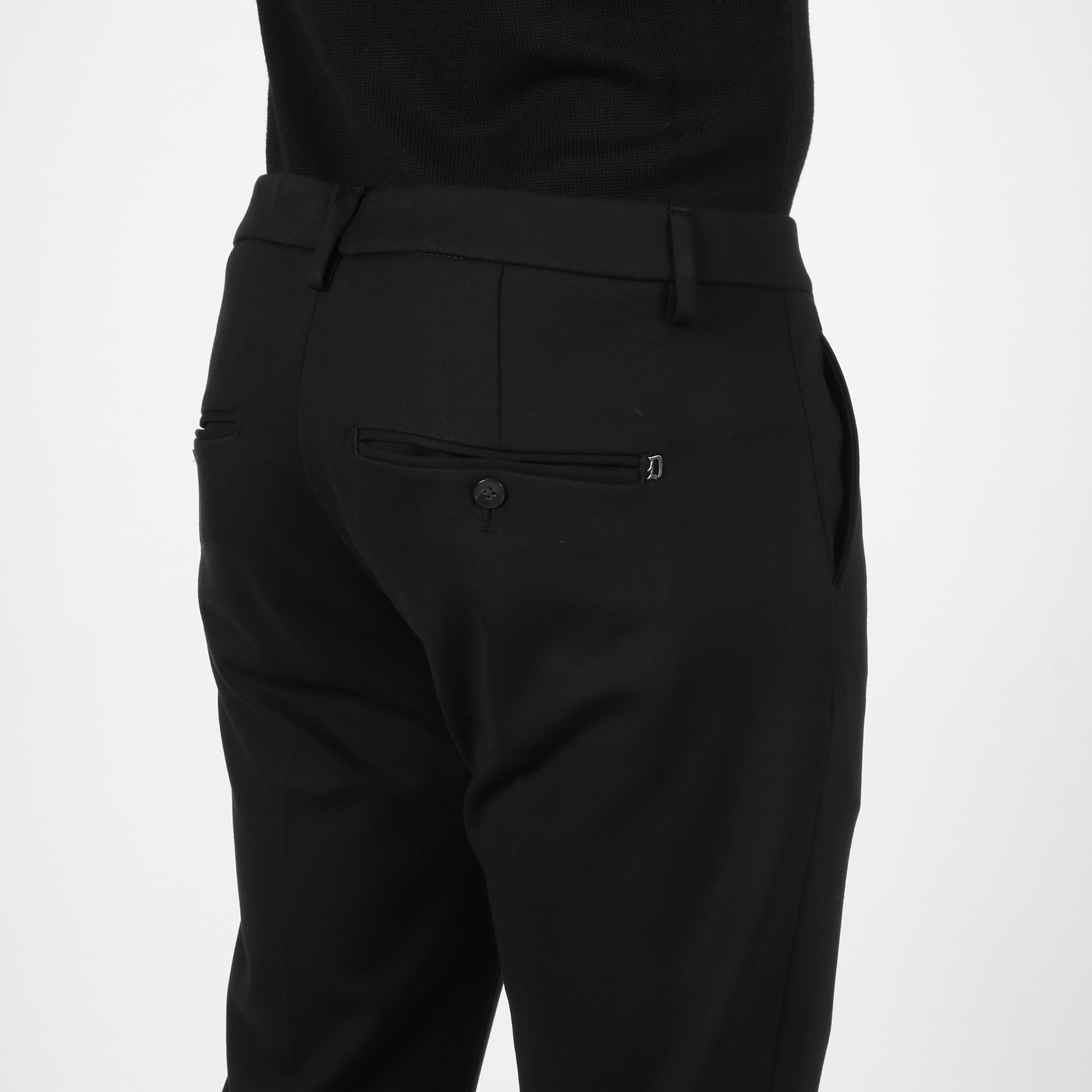 Pantalone gaubert in jersey di viscosa - Nero