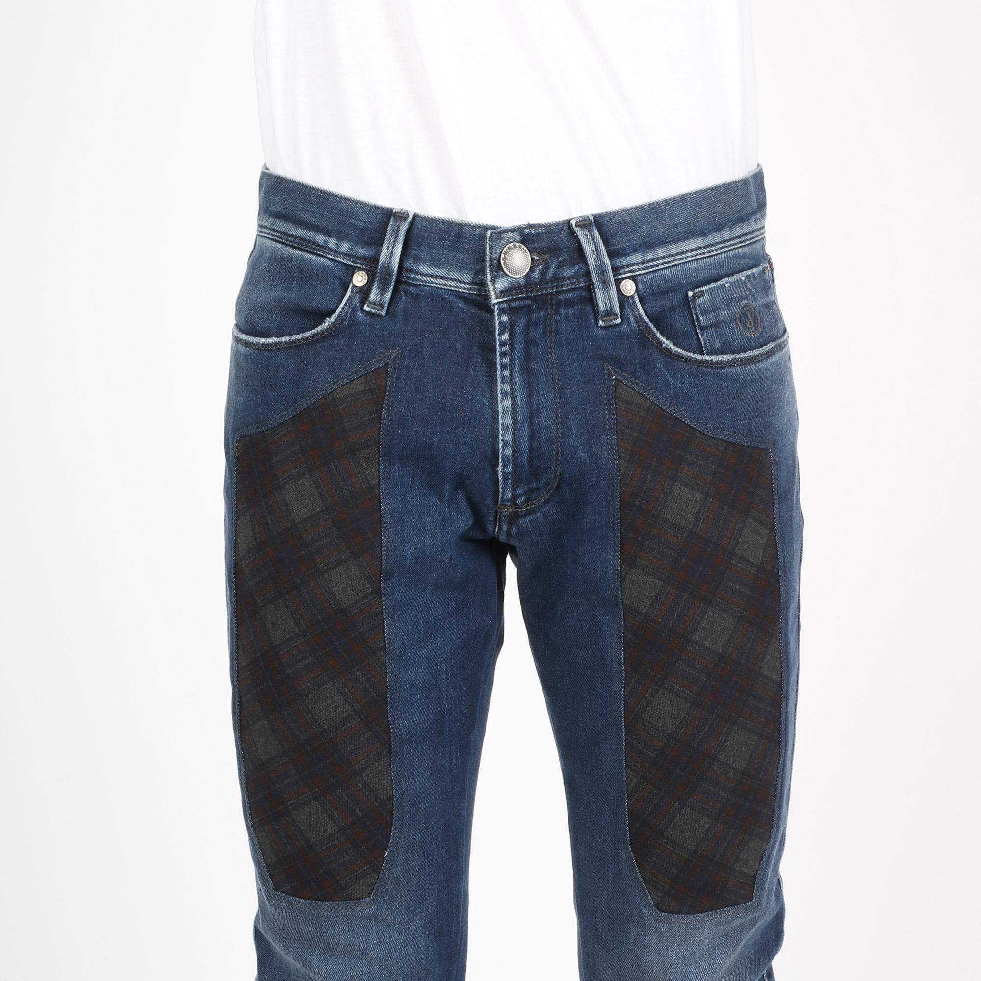 Jeans toppa check - Denim