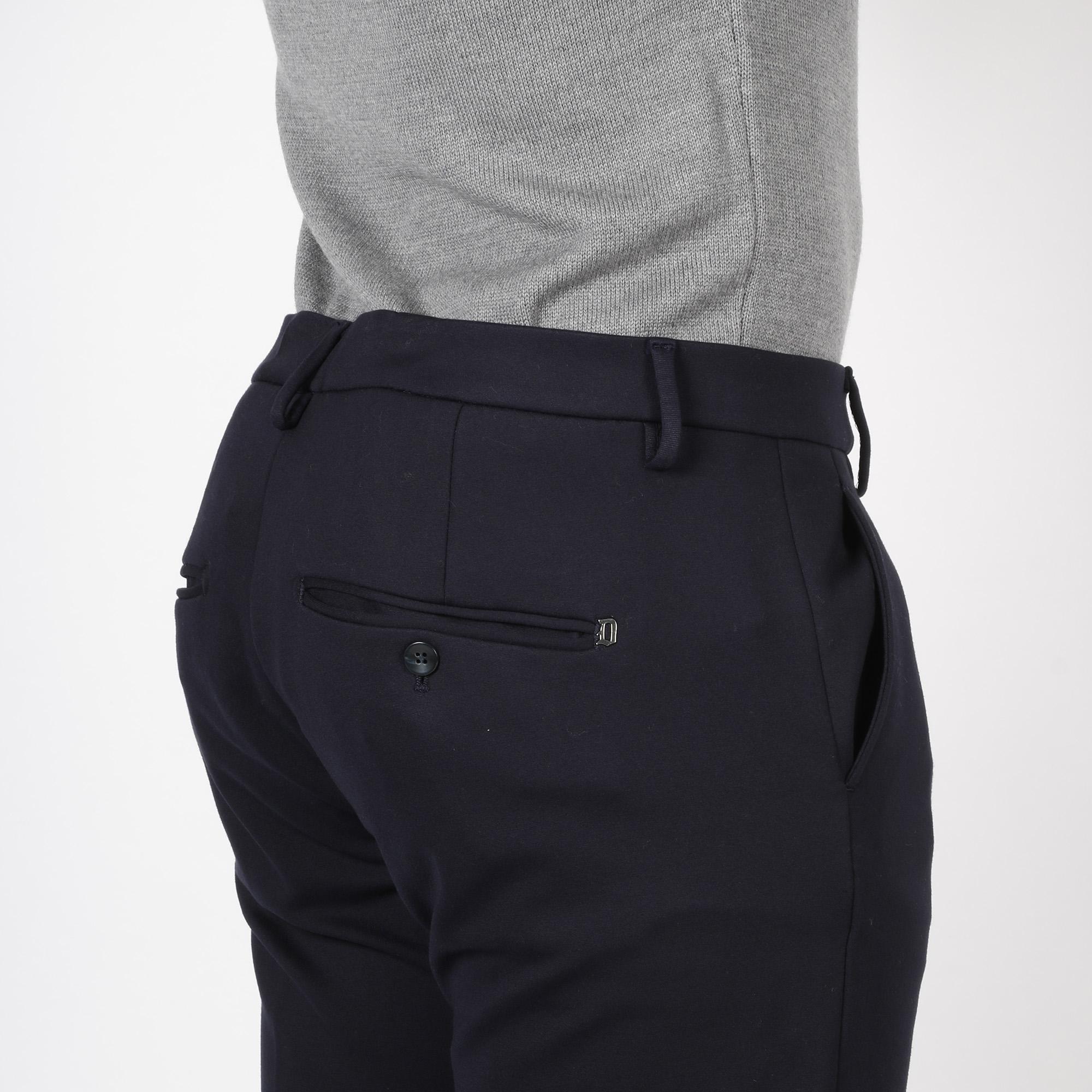 Pantalone gaubert in jersey di viscosa - Blu