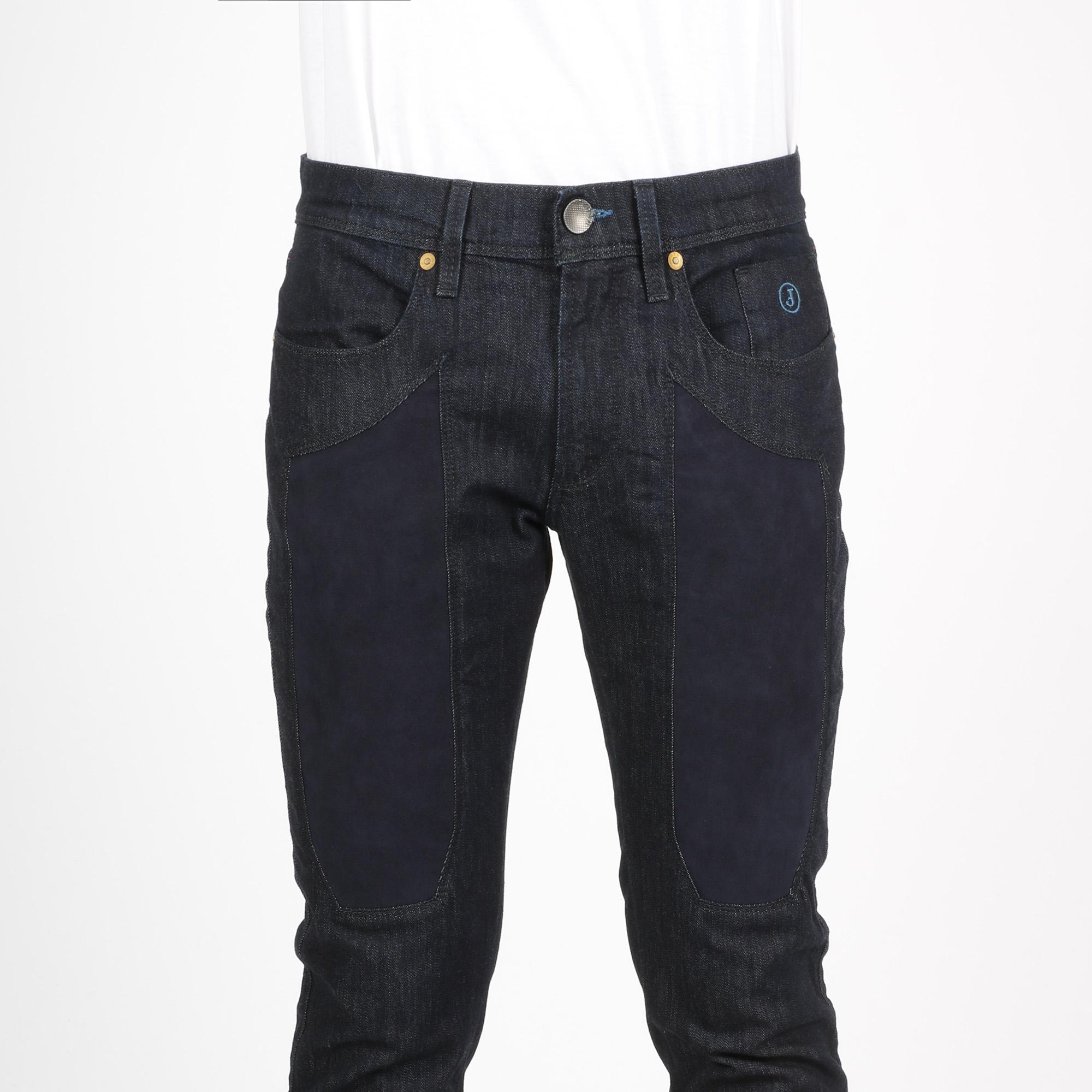 Jeans toppa blu - Denim scuro
