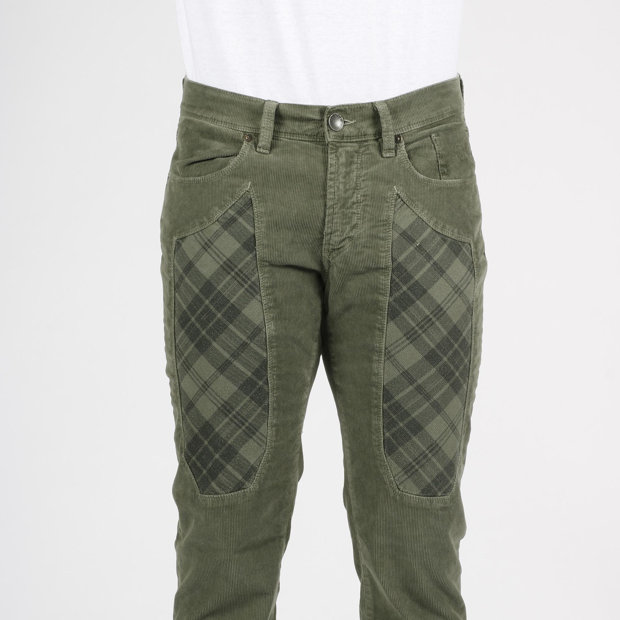Pantalone toppa check - Verde