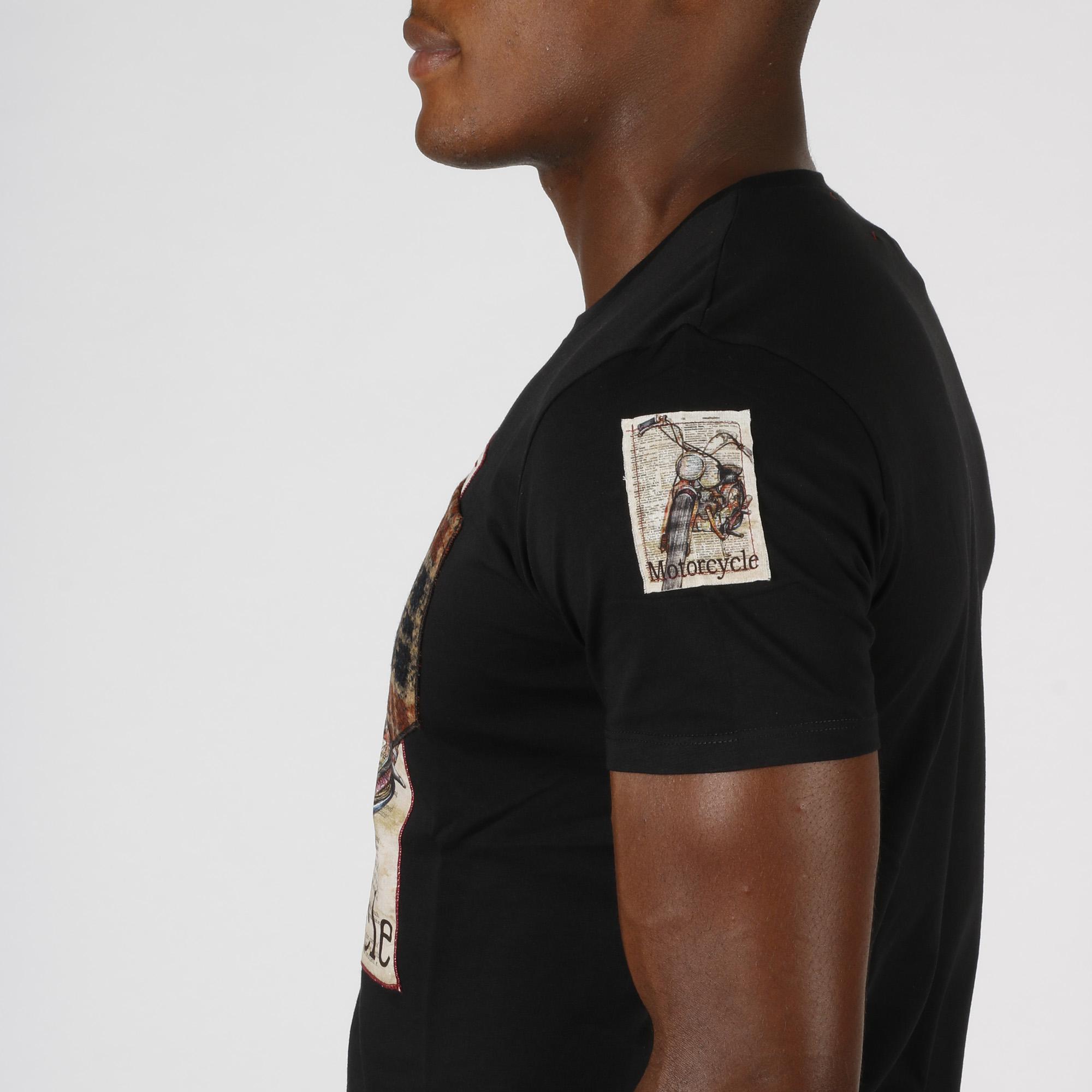 T-shirt motorcycle - Nero