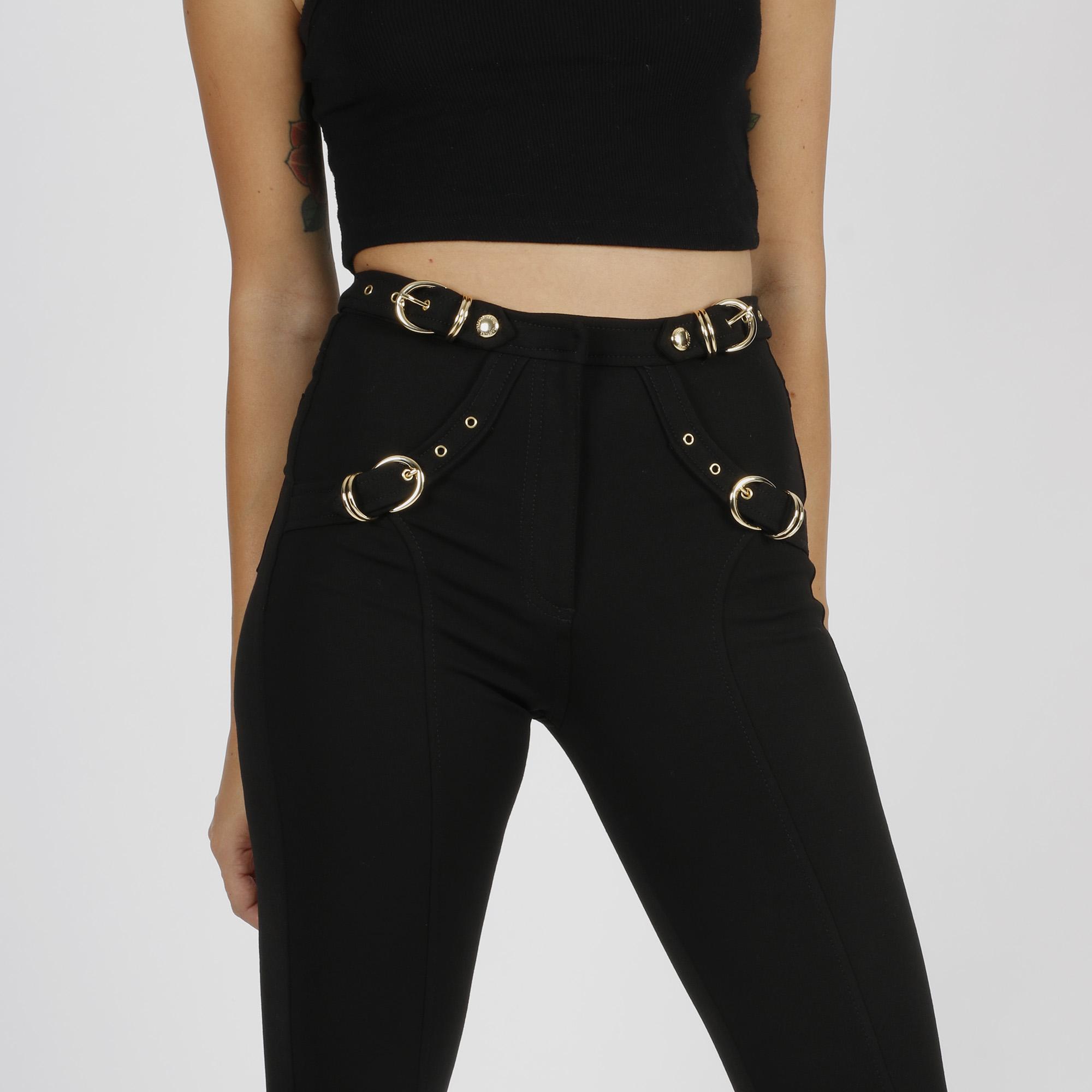 Pantalone fibbia - Nero