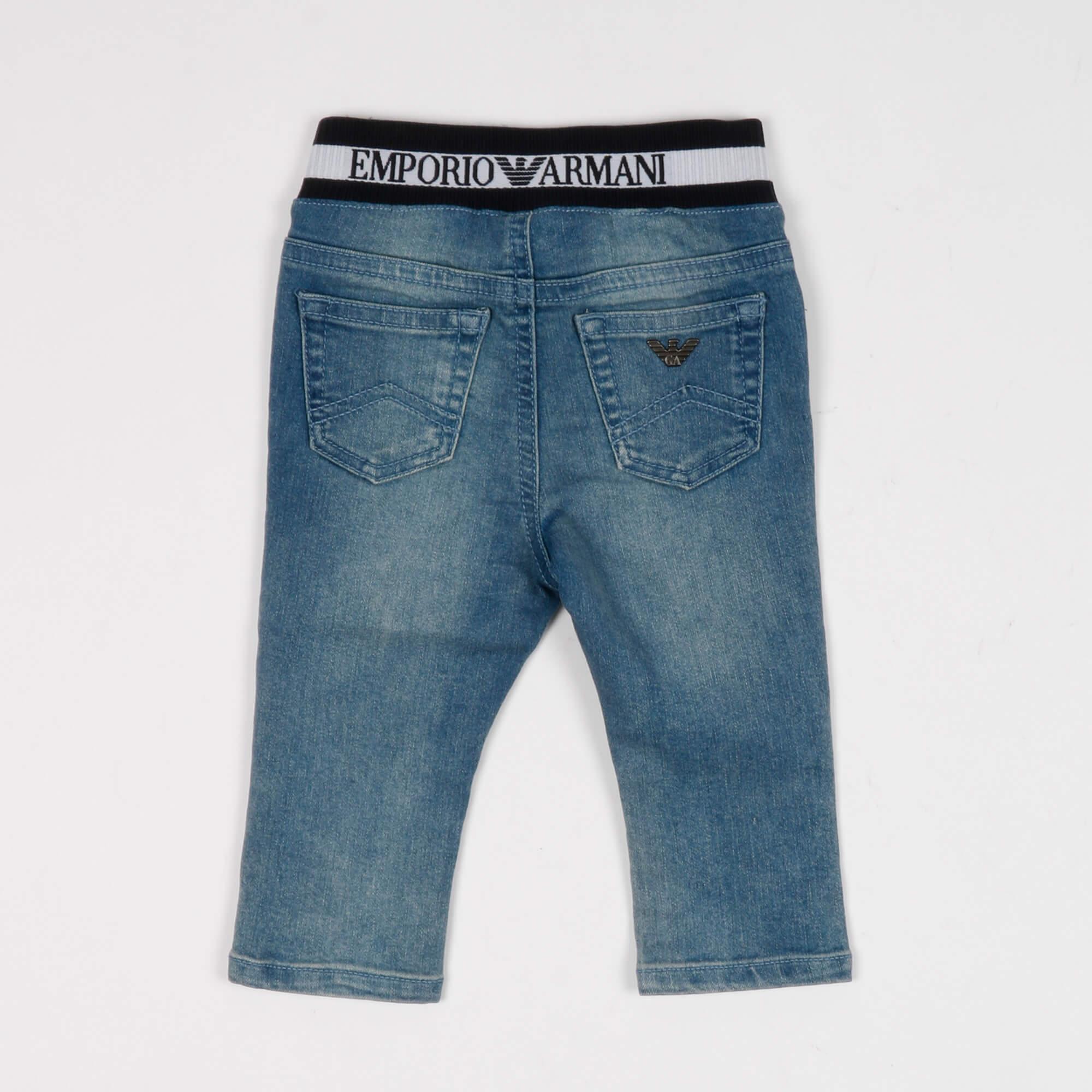 Jeans logo jacquard - Blu