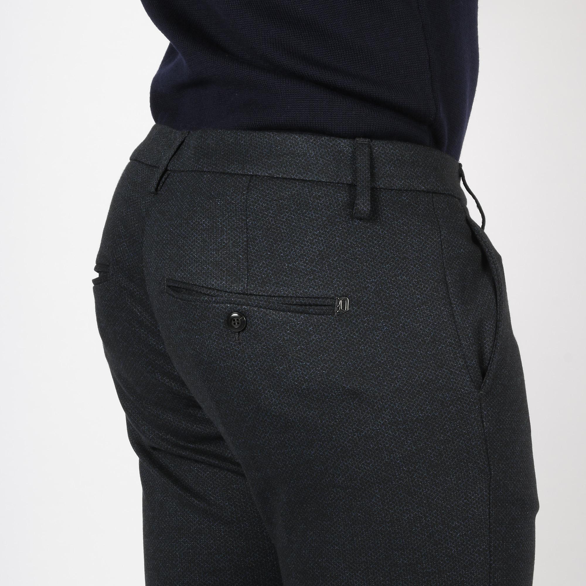 Pantalone gaubert micropunti - Blu scuro