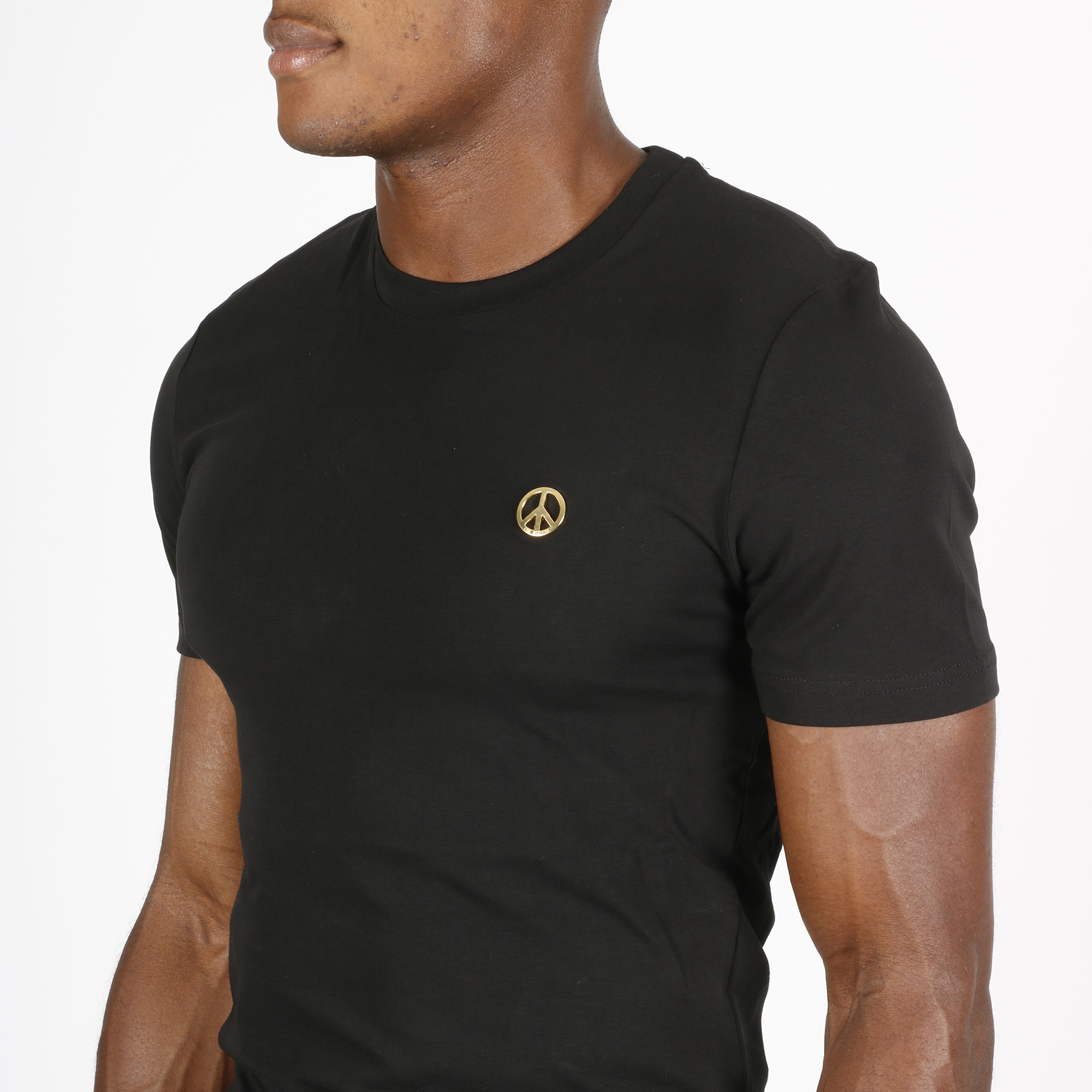 T-shirt placca peace - Nero