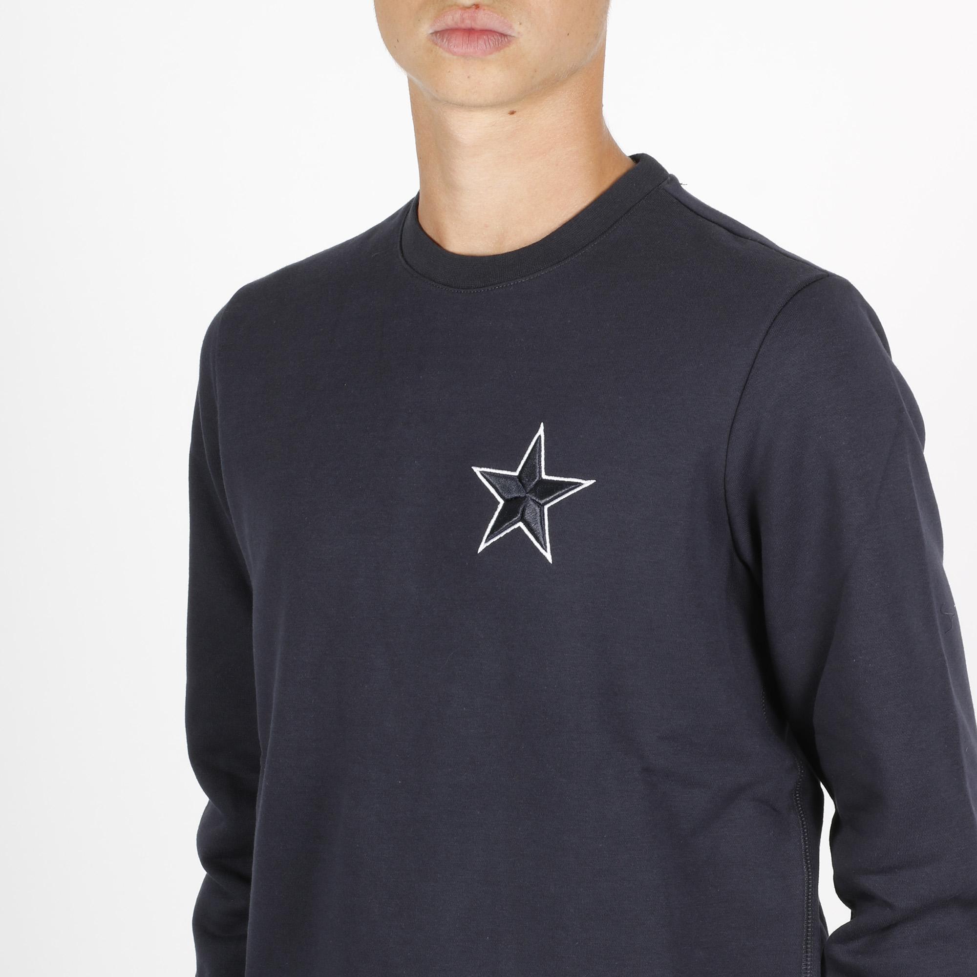Felpa girocollo stella - Blu navy