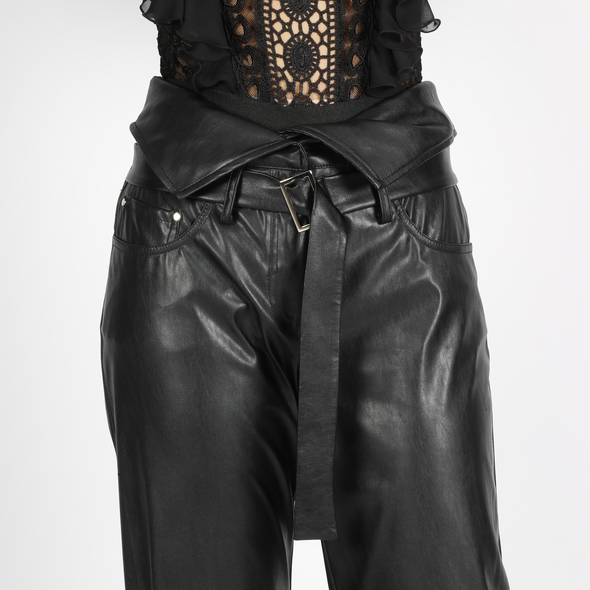Pantalone similpelle - Nero