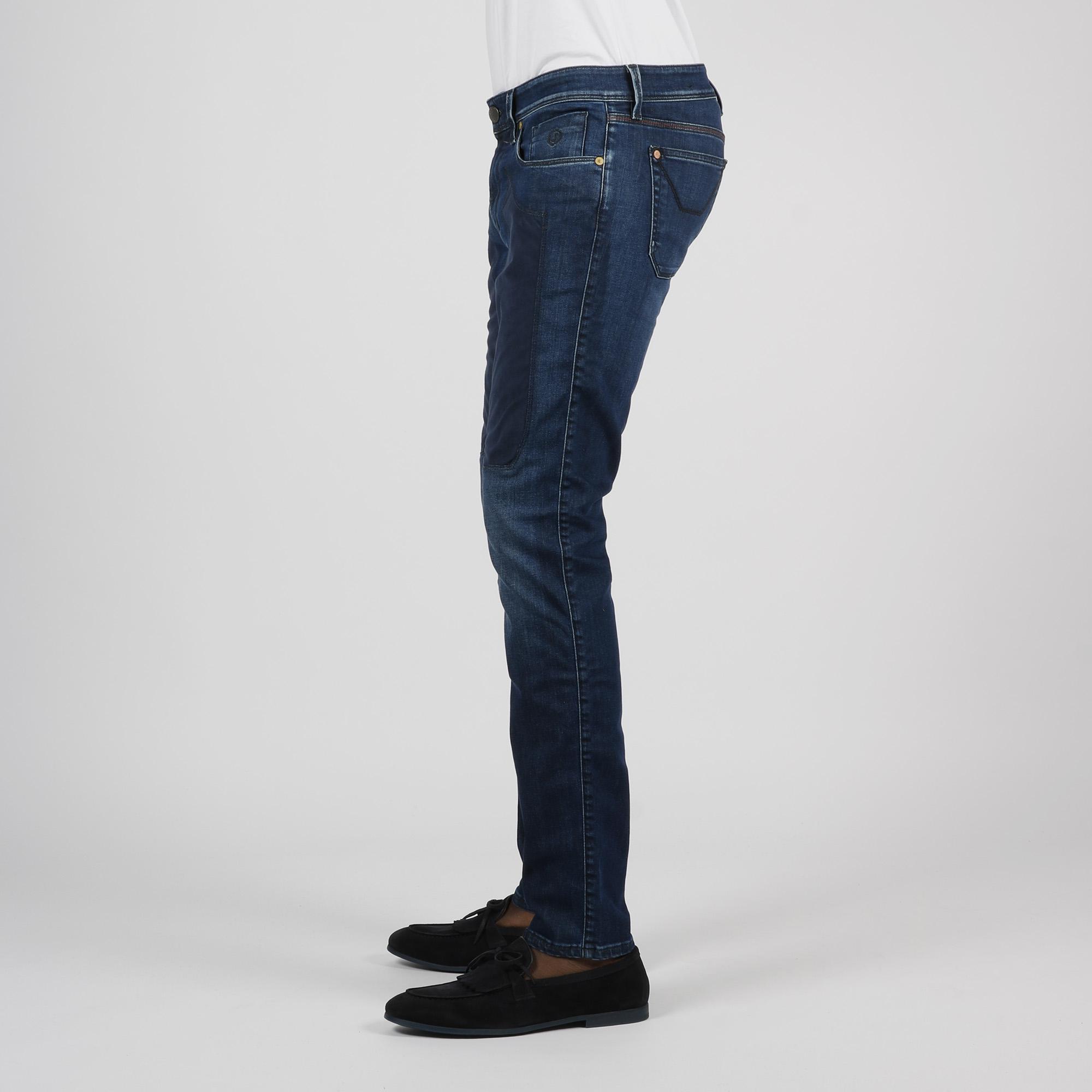 Jeans toppa alcantara - Denim scuro
