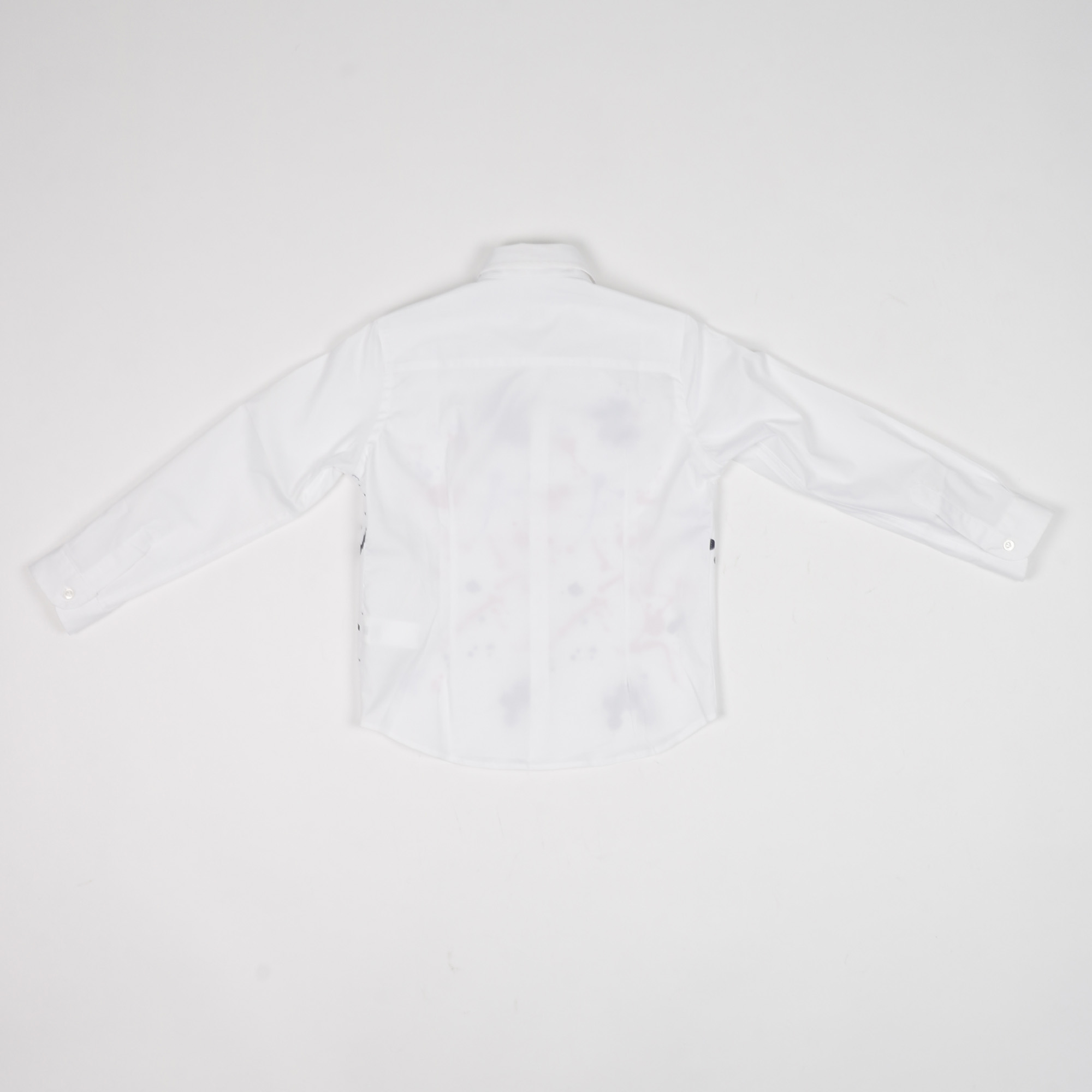Camicia schizzi pittura - Bianco