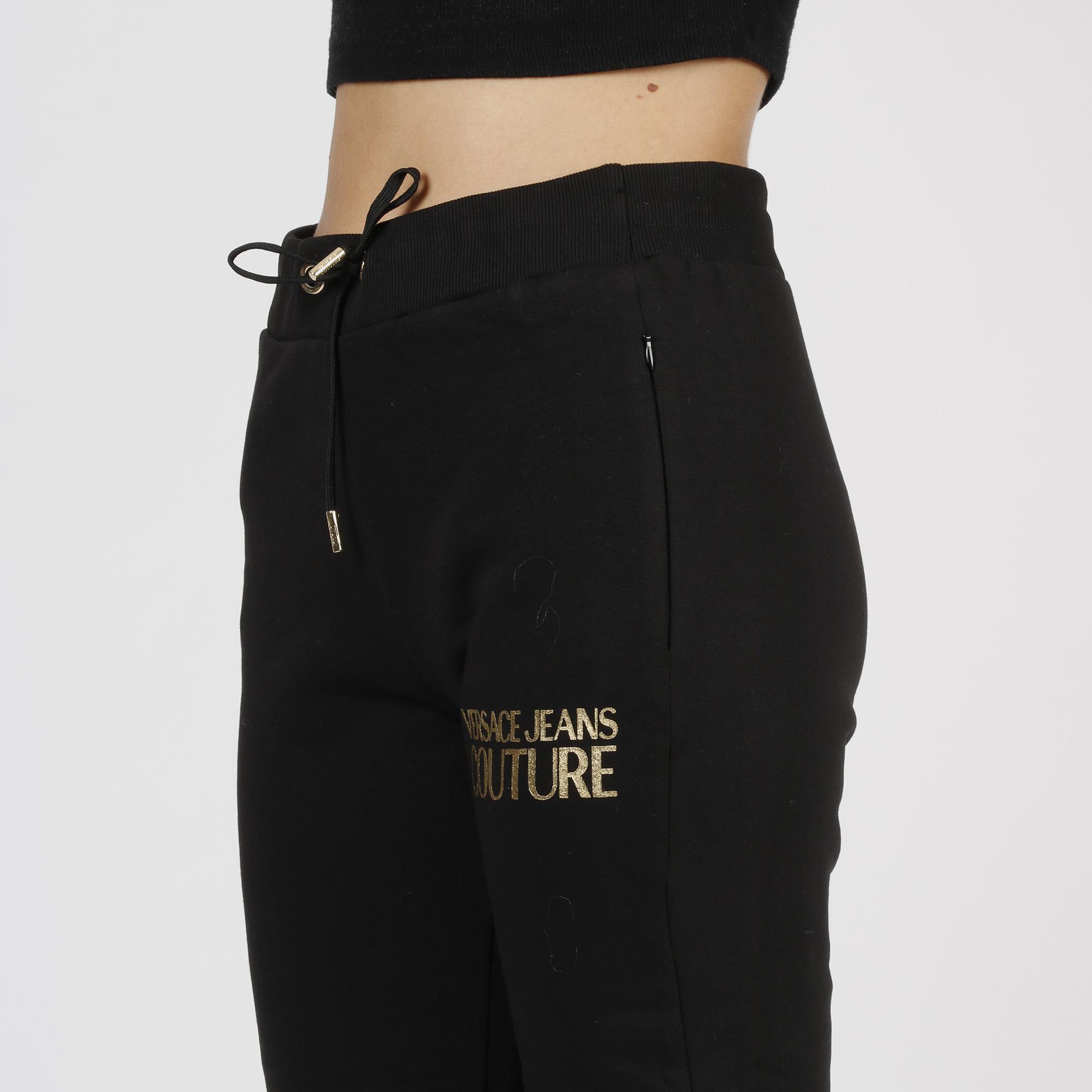 Pantalone felpa logo oro - Nero