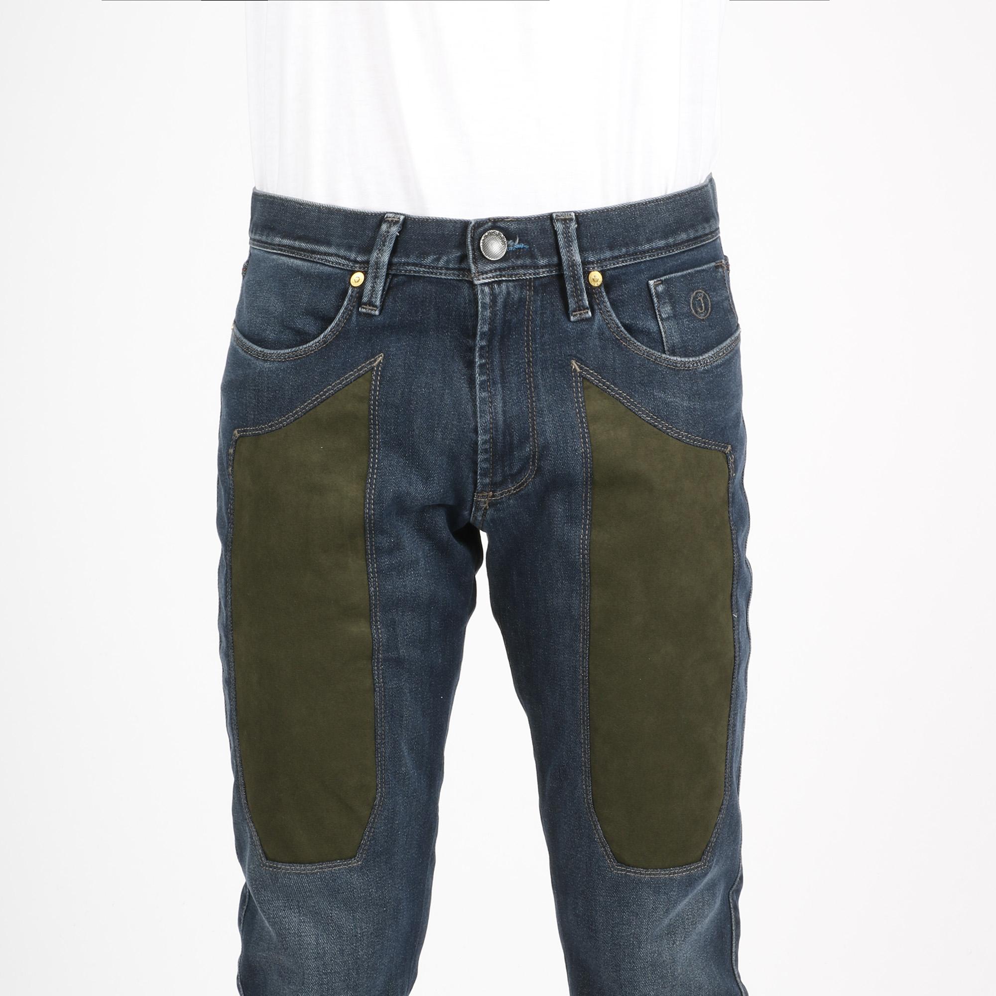 Jeans toppa verde - Denim