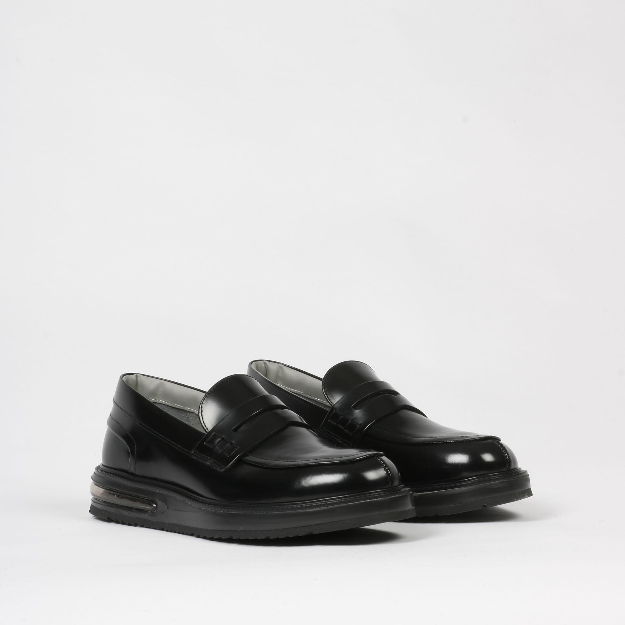 Air mocassin leather - Nero
