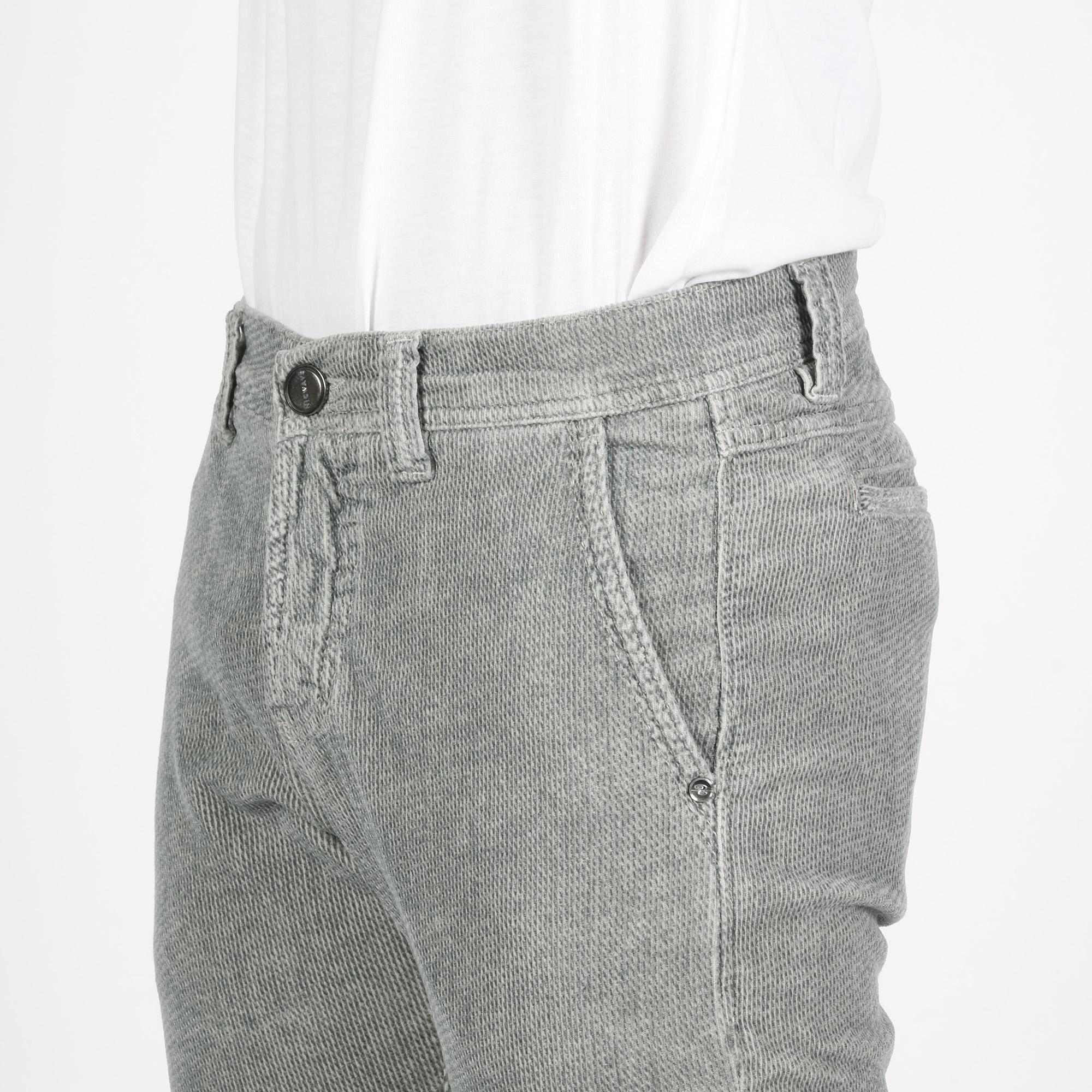 Pantalone draw velluto - Grigio