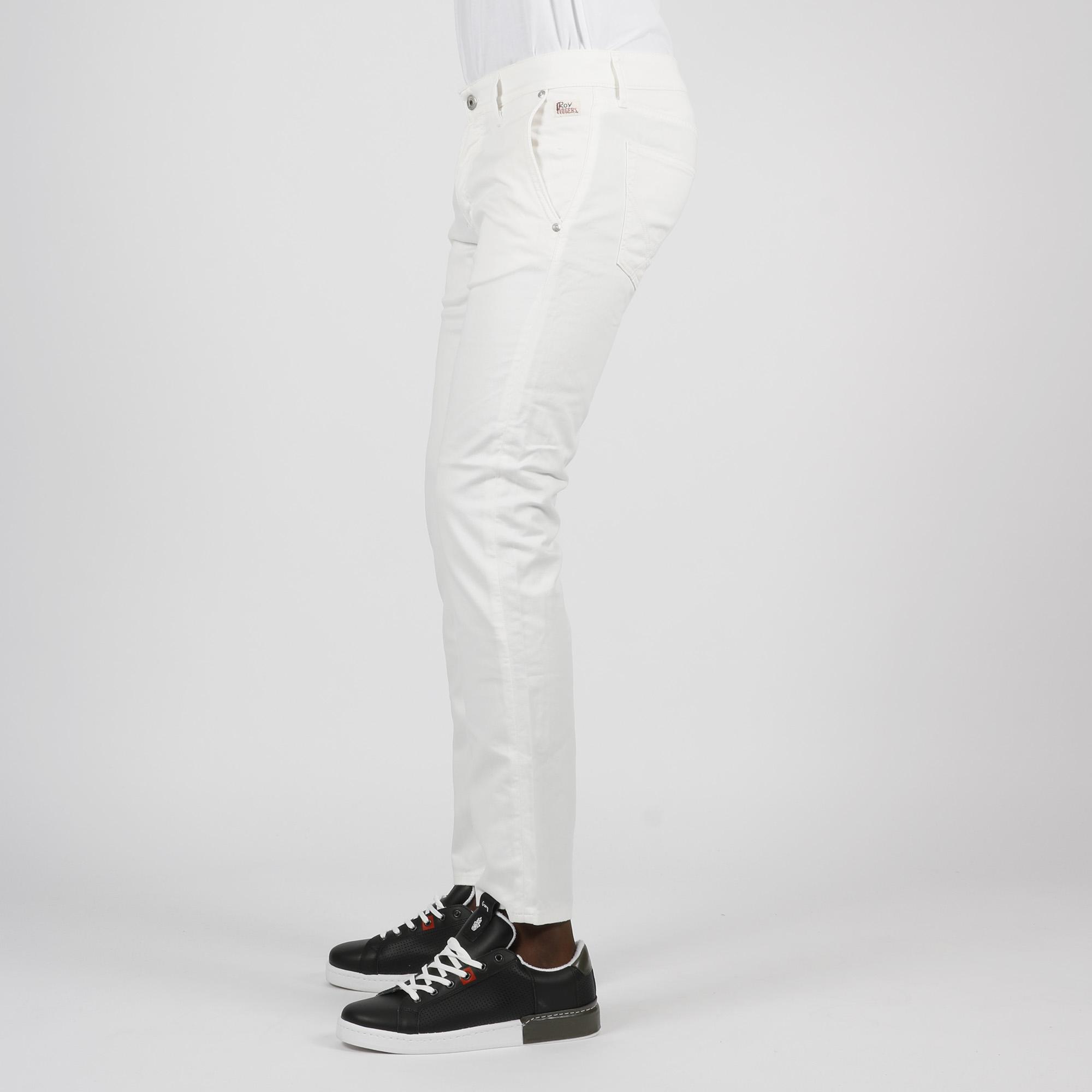 Jeans elias cut plain - Bianco