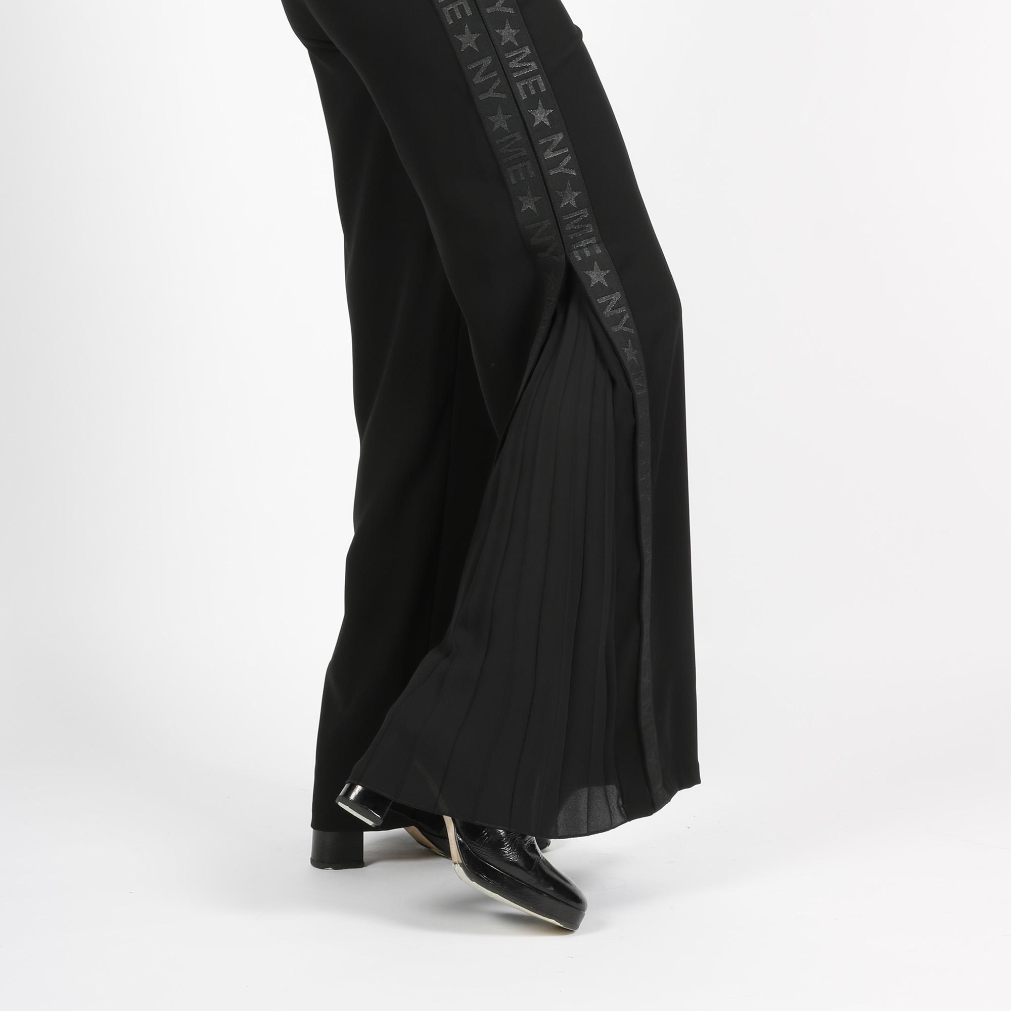 Pantalone banda e plissè - Nero