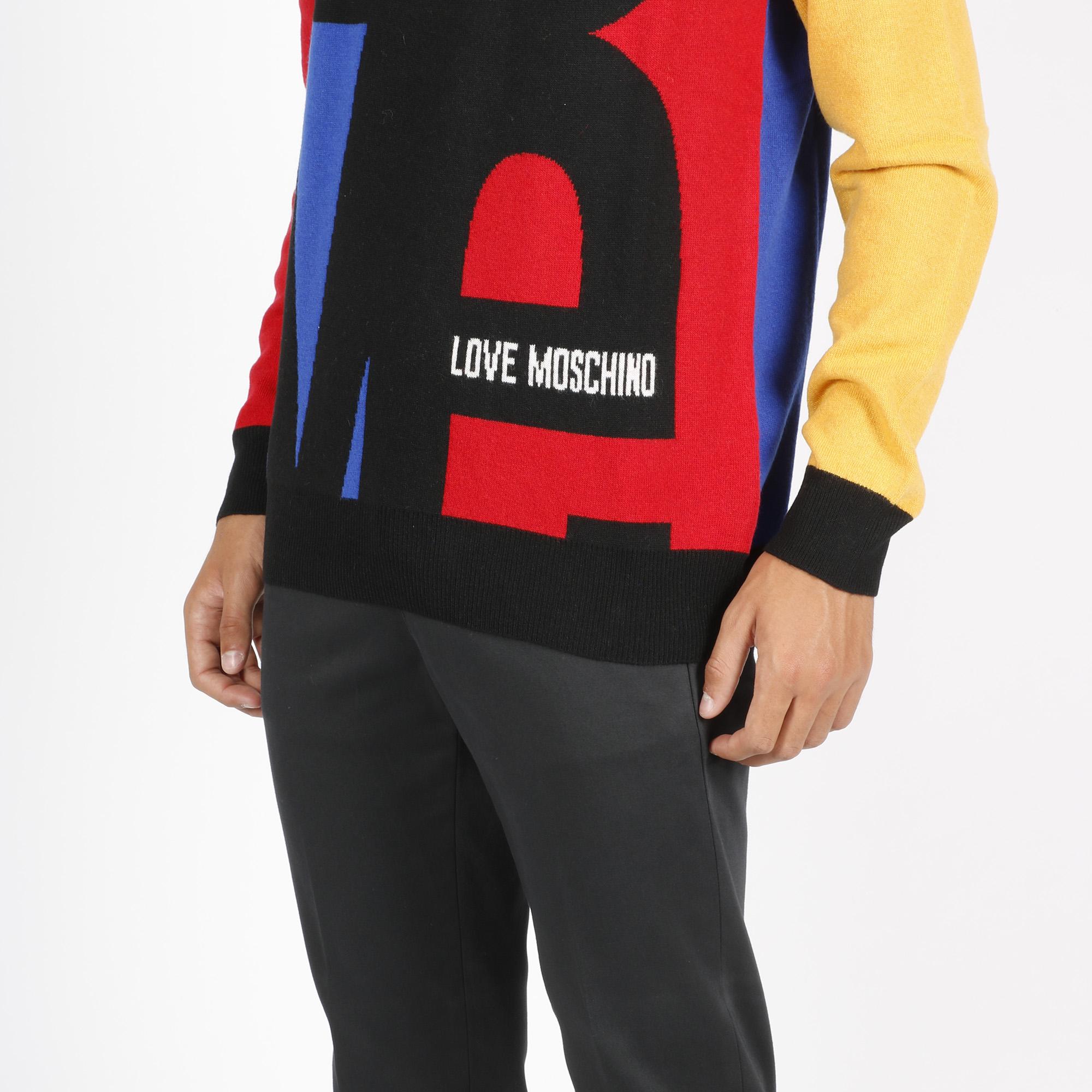 Maglia jacquard love - Multicolore