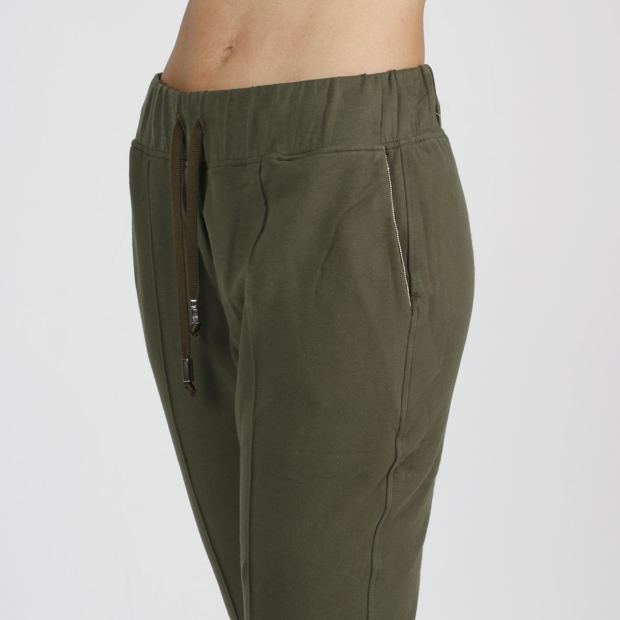 Pantalone strass tasche - Verde